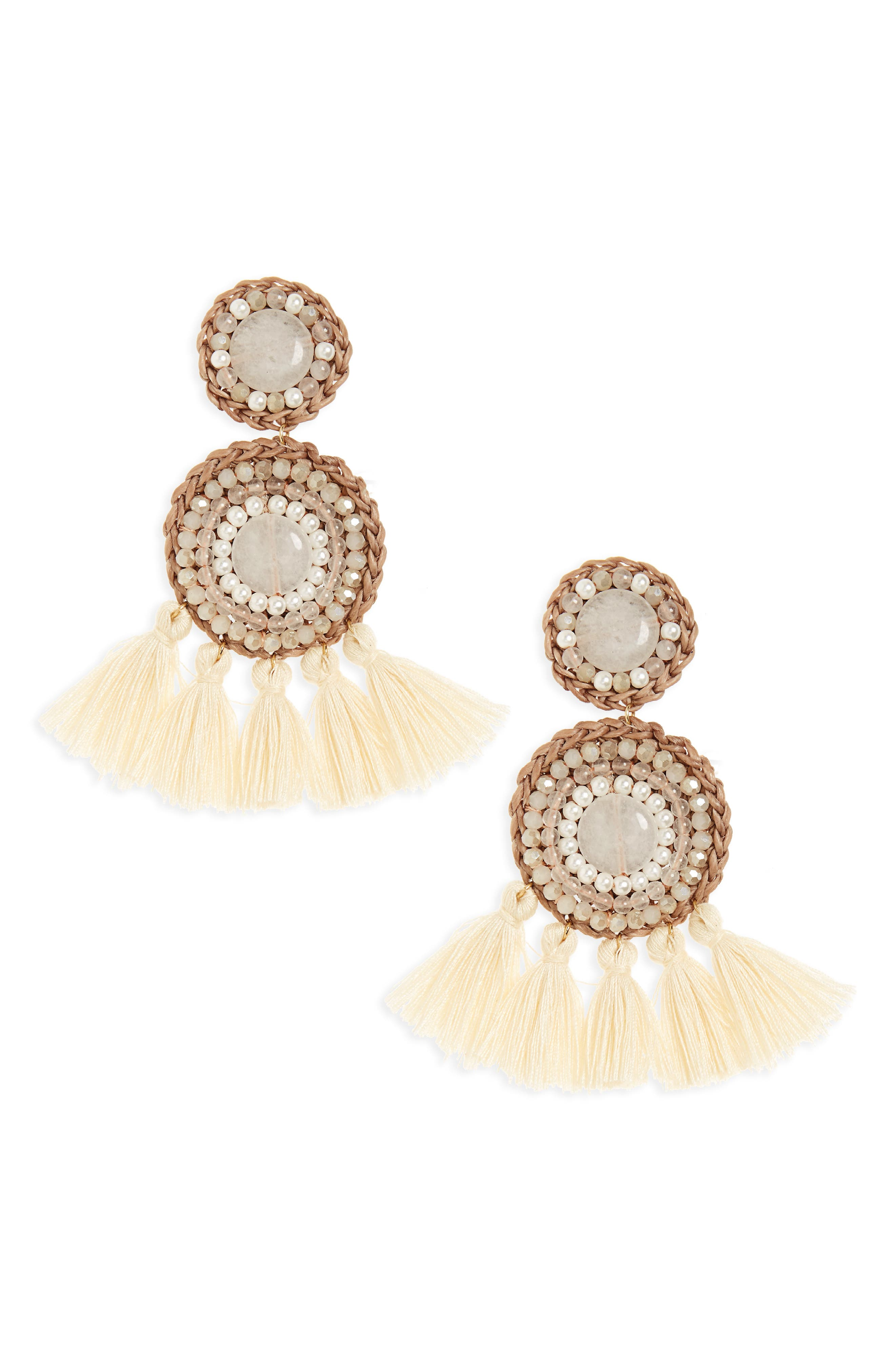 Alternate Image 1 Selected - Panacea Tassel Drop Earrings