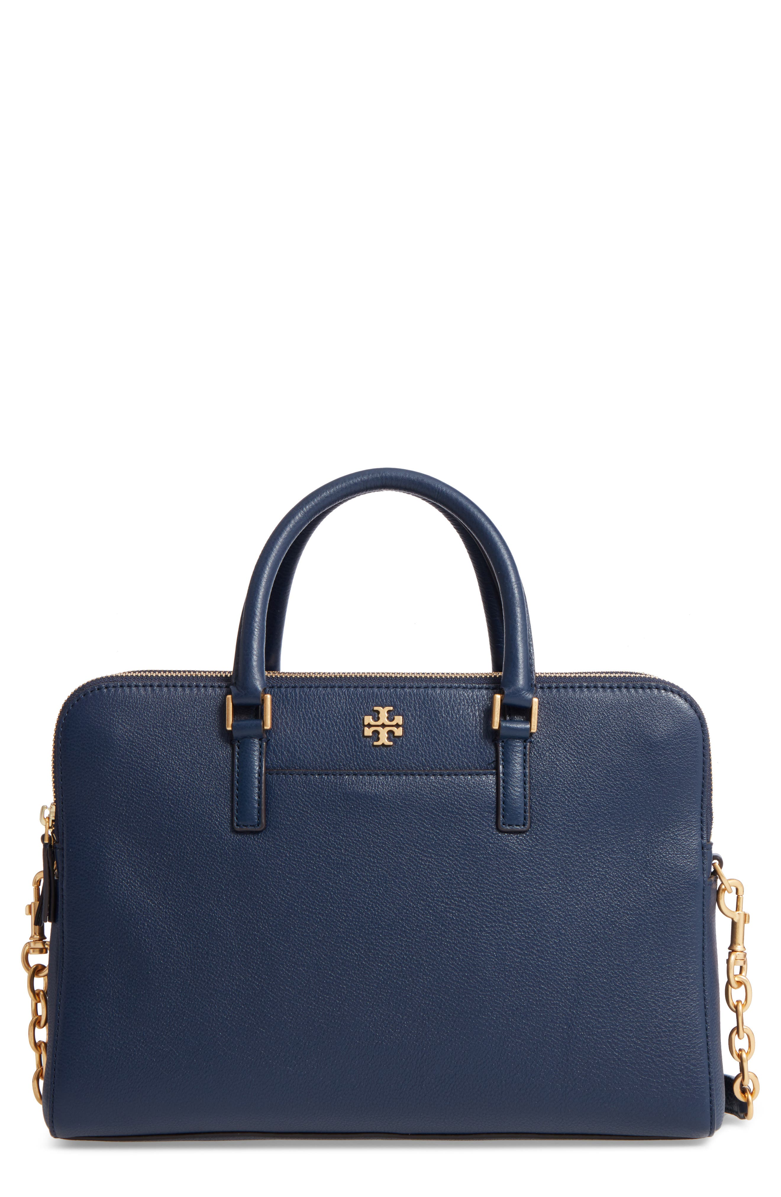 TORY BURCH Monroe Leather Satchel