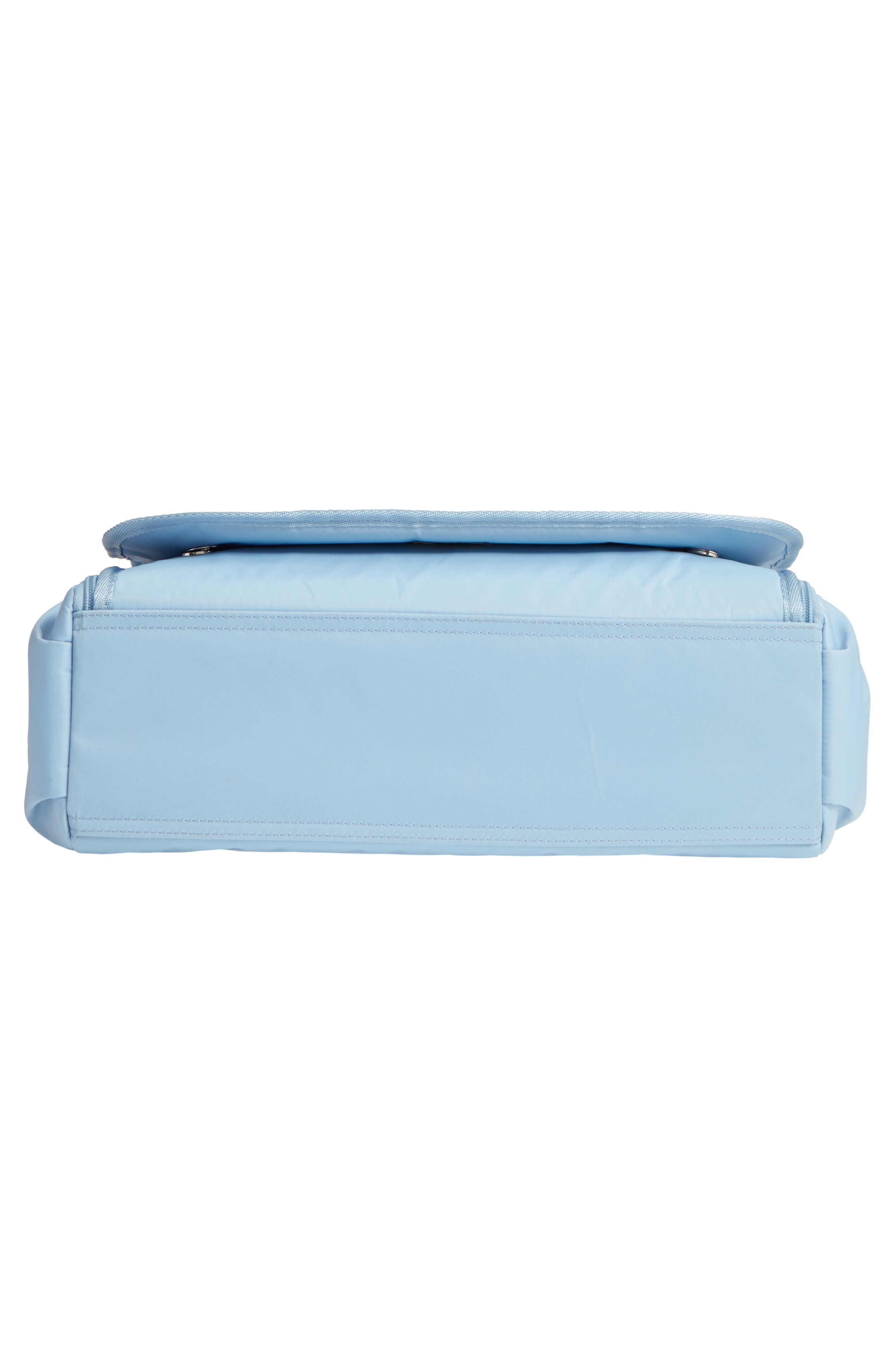 Nylon Messenger Diaper Bag,                             Alternate thumbnail 6, color,                             Light Blue
