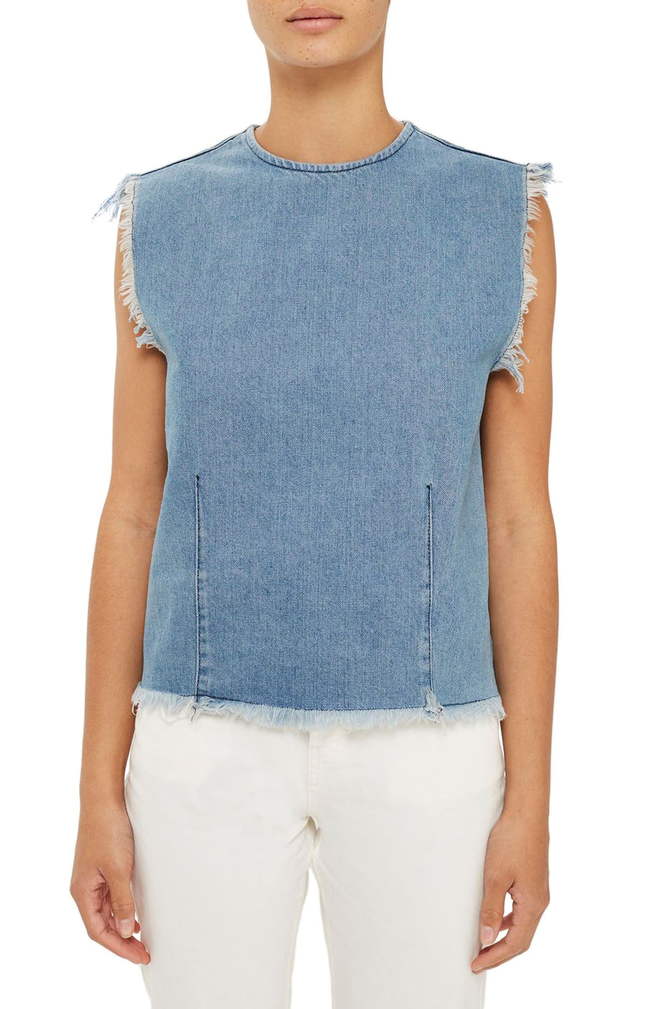 Topshop Boutique Denim Tank