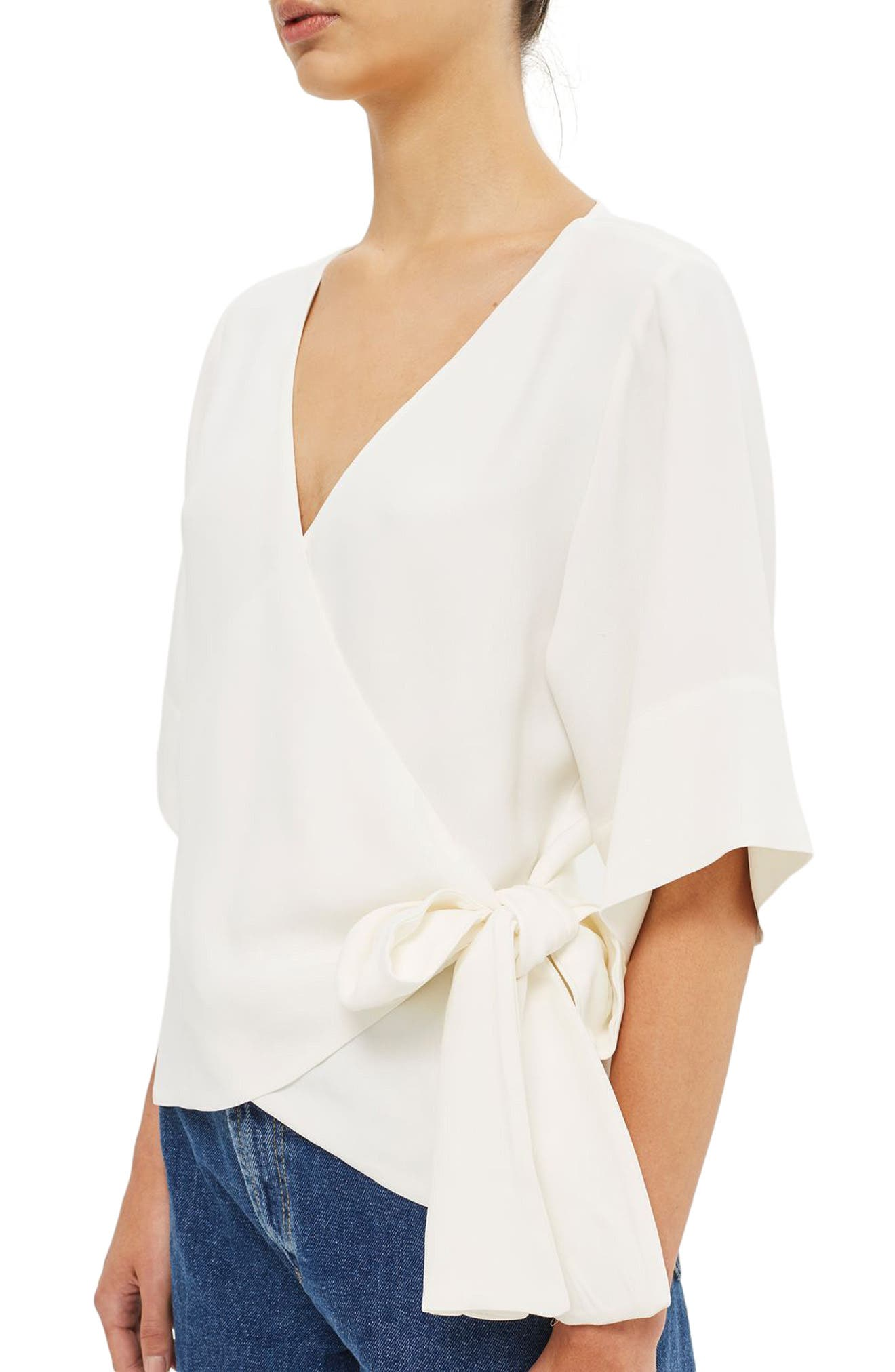 Alternate Image 4  - Topshop Boutique Crepe Wrap Top