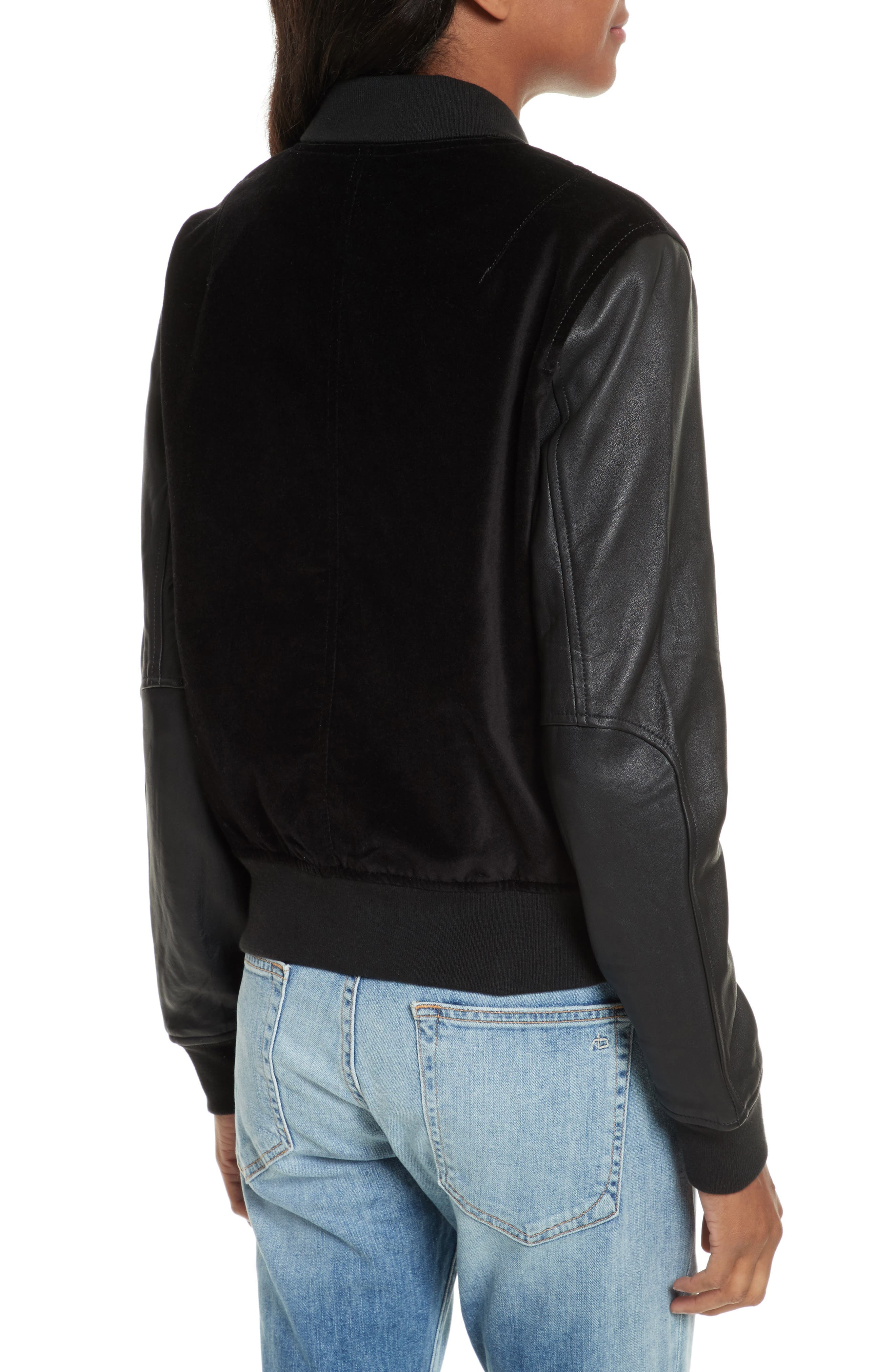 Alternate Image 2  - rag & bone/JEAN Camden Varsity Jacket