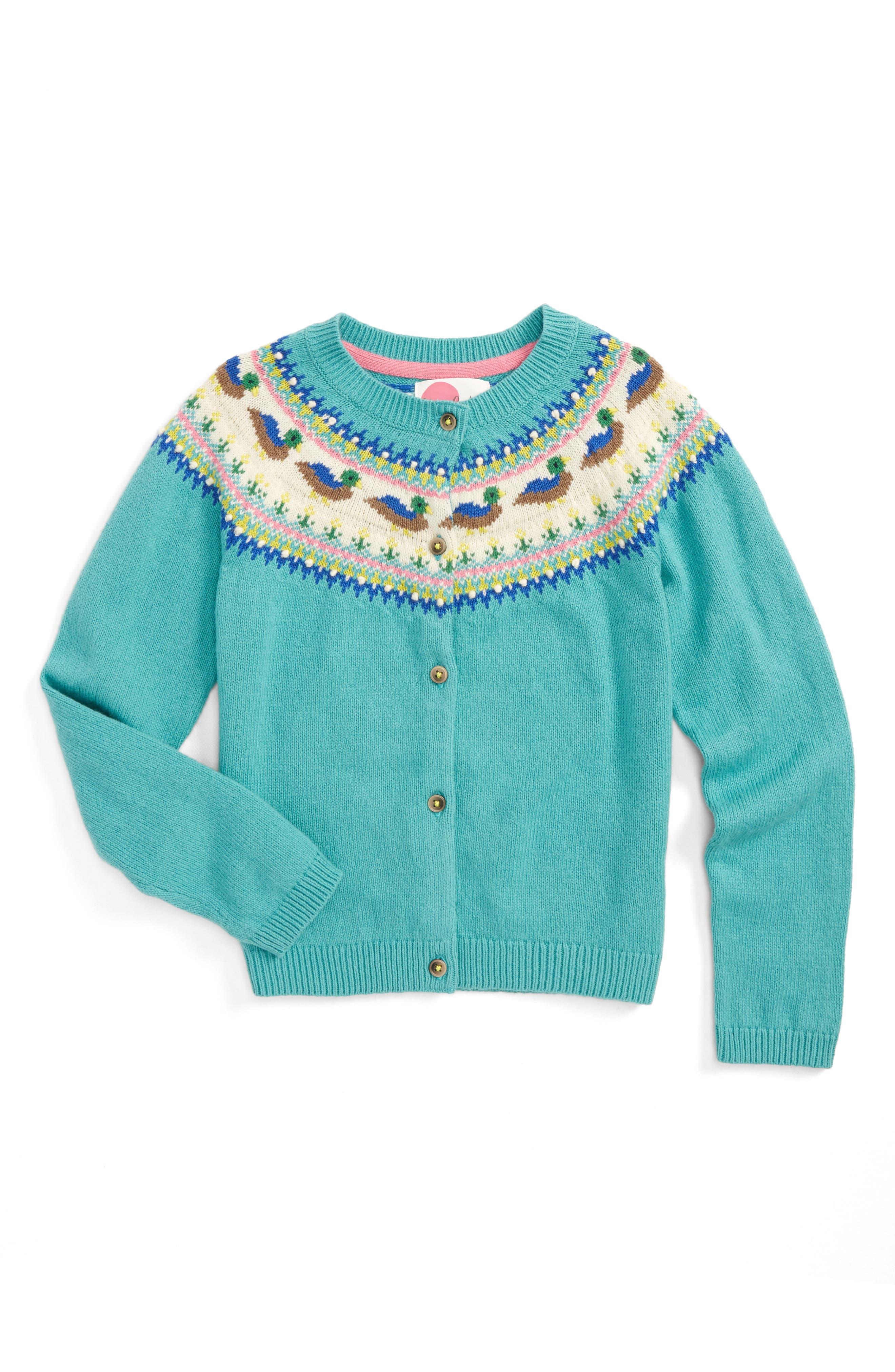 Mini Boden Fair Isle Cardigan (Toddler Girls, Little Girls & Big Girls)