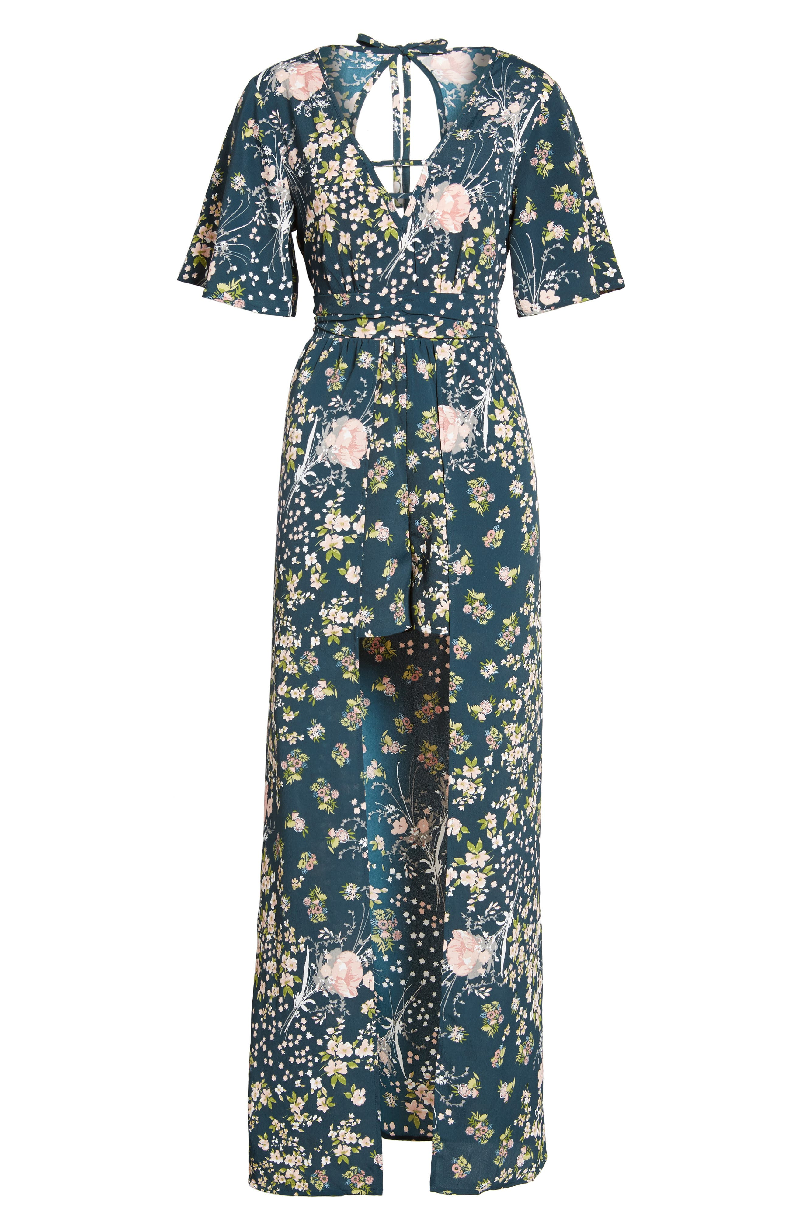 Alternate Image 6  - Band of Gypsies Moody Floral Print Maxi Romper