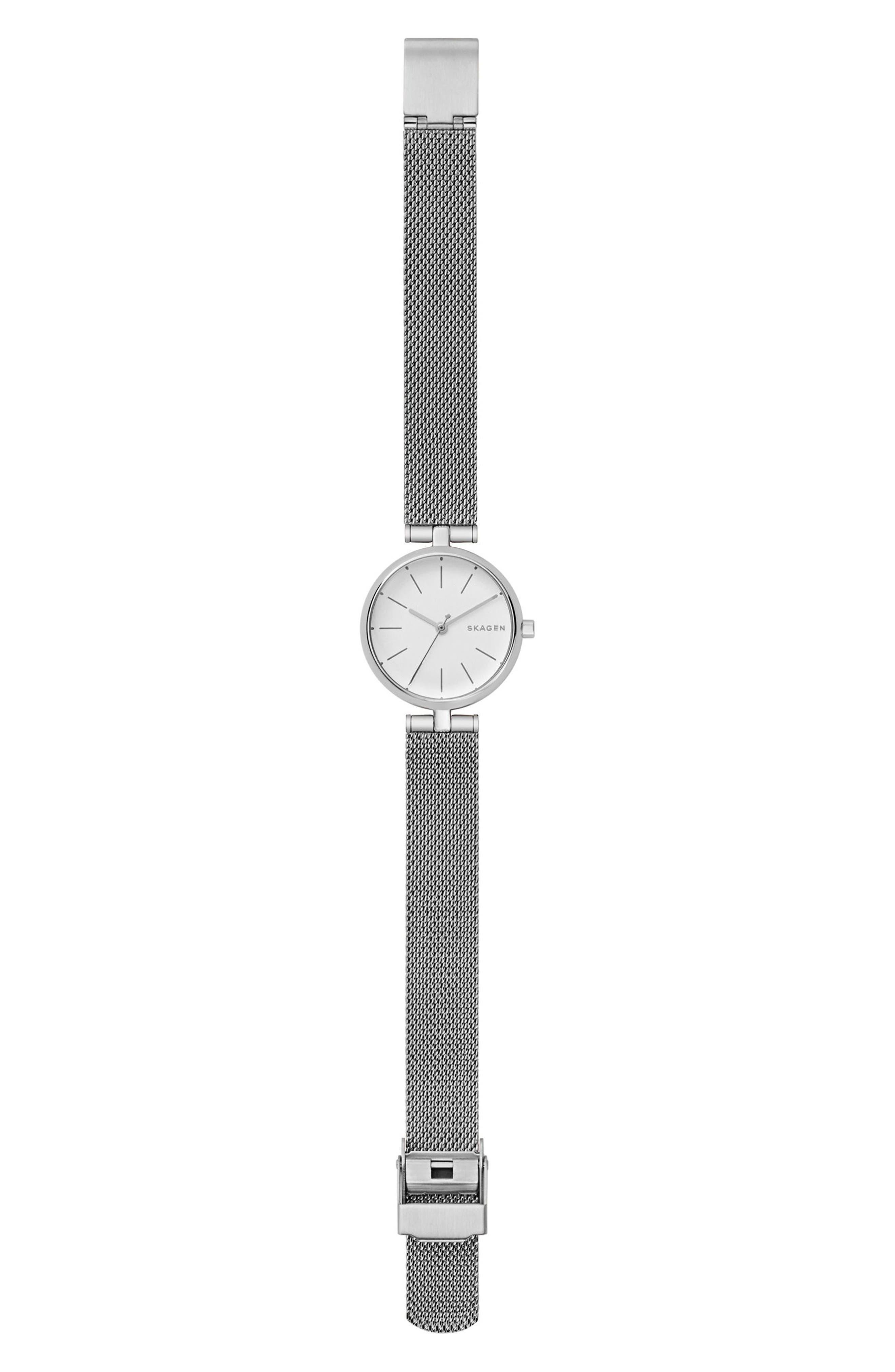 Alternate Image 3  - Skagen Signatur Mesh Strap Watch, 26mm