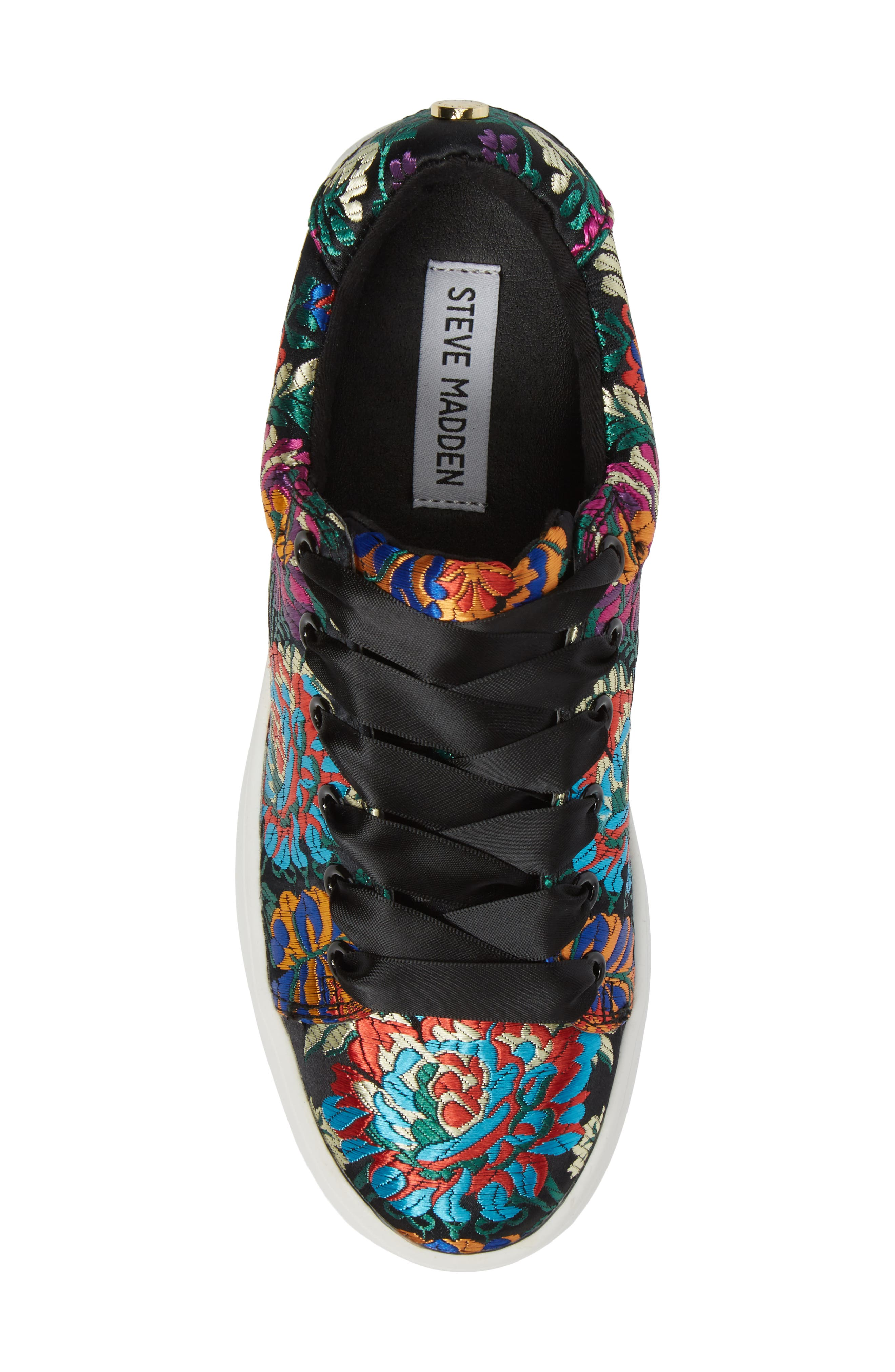 Brody Embroidered Flower Sneaker,                             Alternate thumbnail 5, color,                             Multi