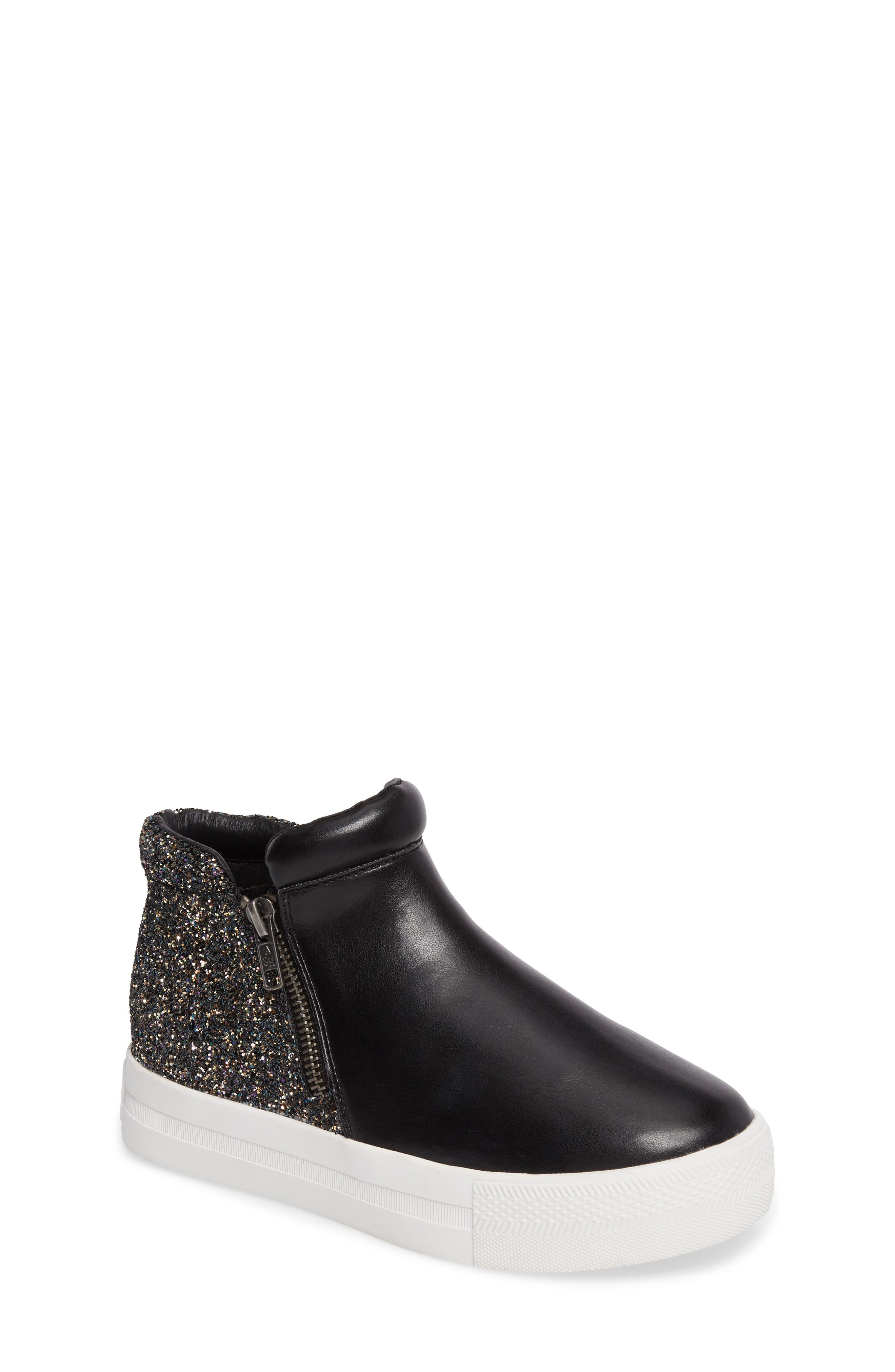 Ash Lynn Valentina Glittery Double Zip Mid Top Sneaker (Toddler, Little Kid & Big Kid)