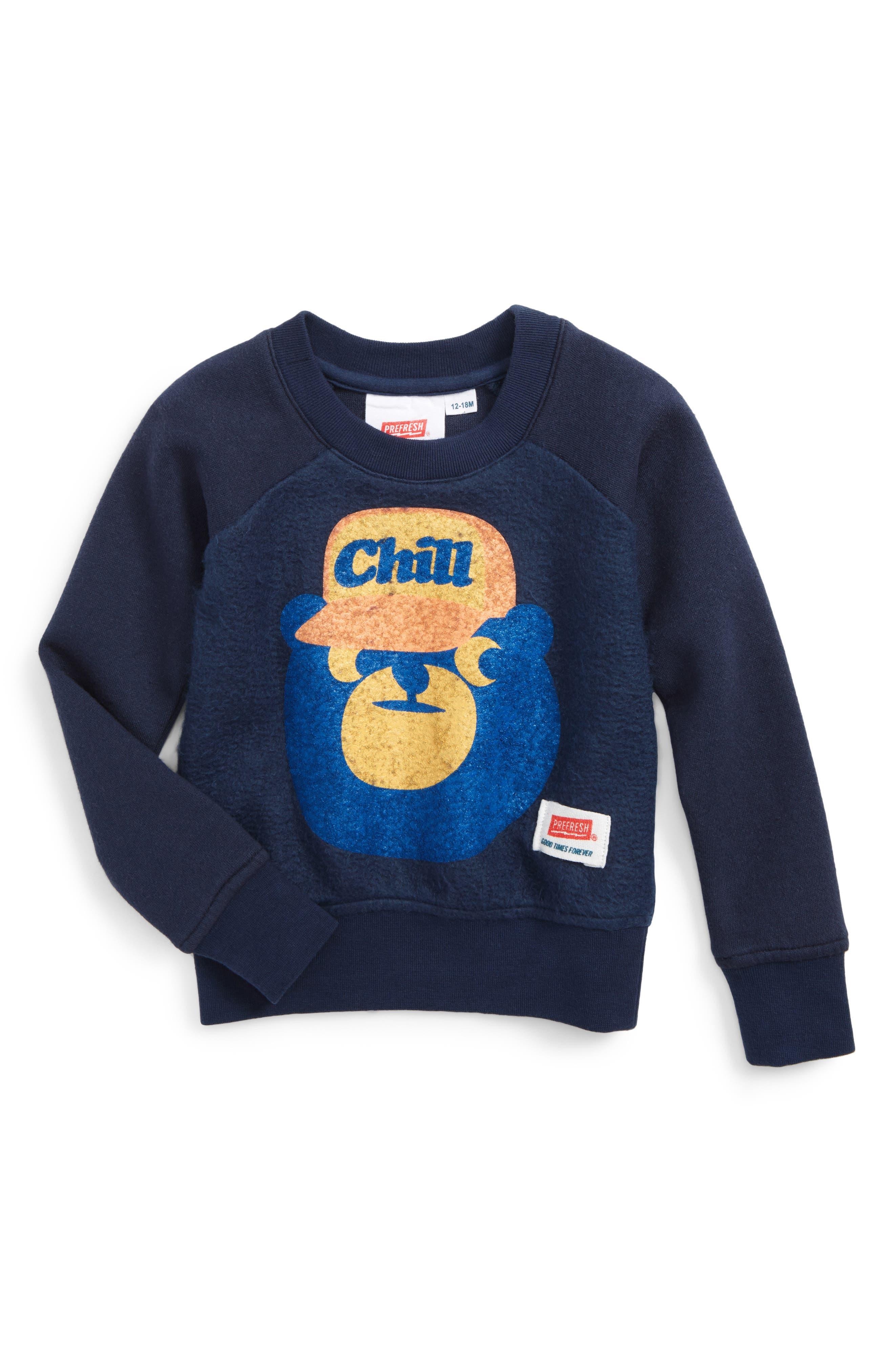 Chill Bear Sweatshirt,                             Main thumbnail 1, color,                             Navy