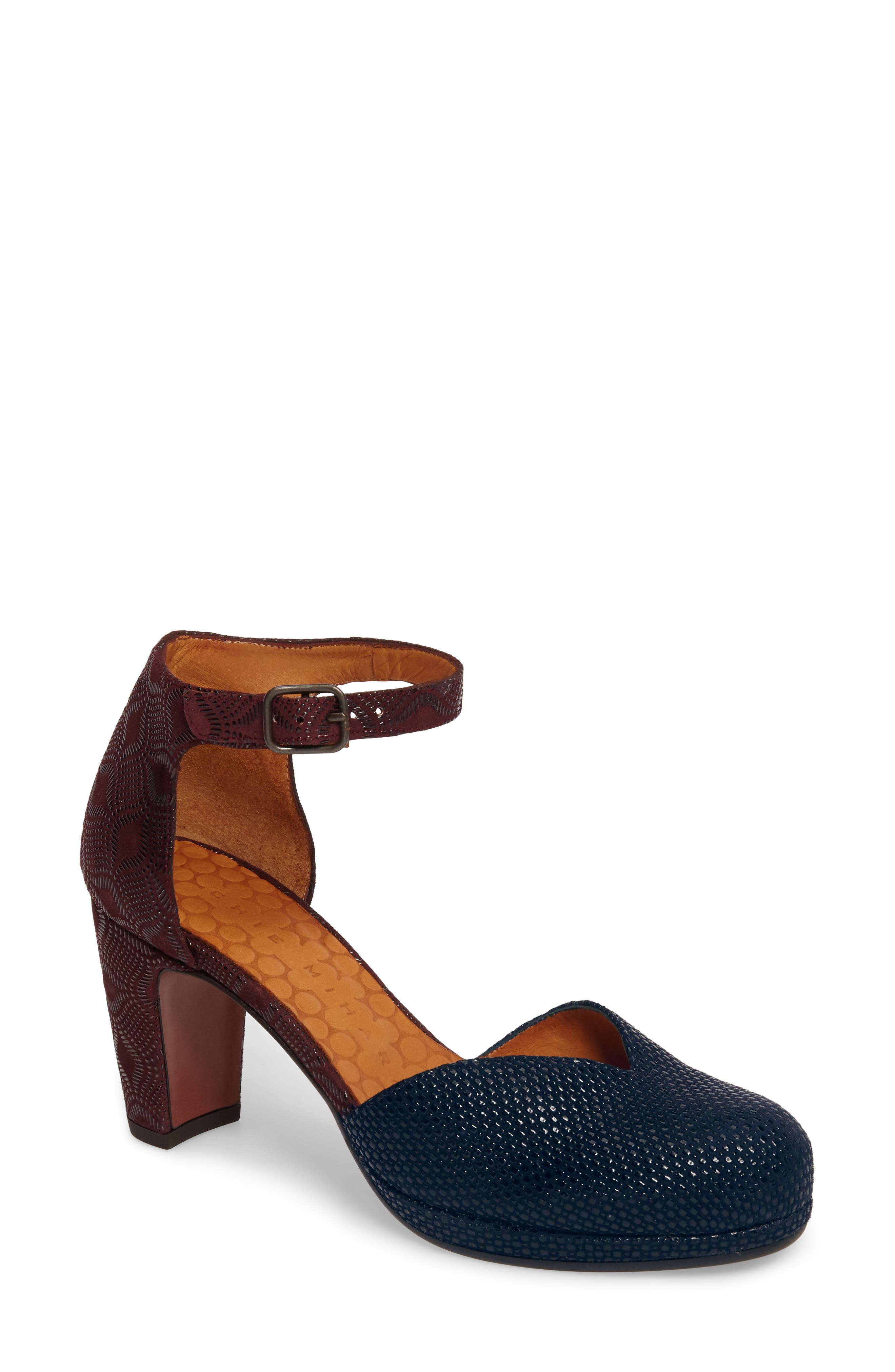 Maho d'Orsay Ankle Strap Pump,                         Main,                         color, Navy