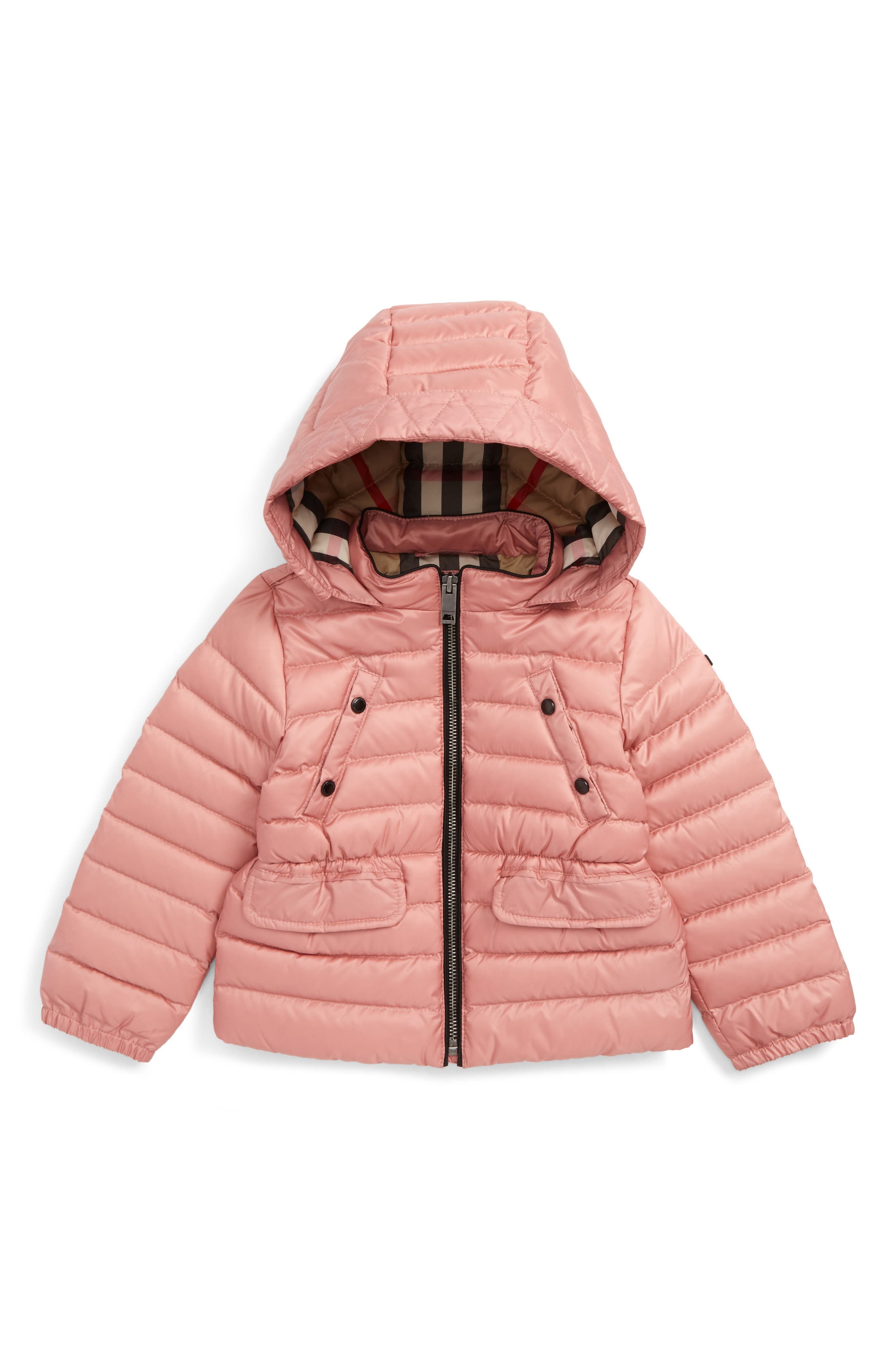 Alternate Image 1 Selected - Burberry Mini Bronwyn Down Jacket (Baby Girls & Toddler Girls)