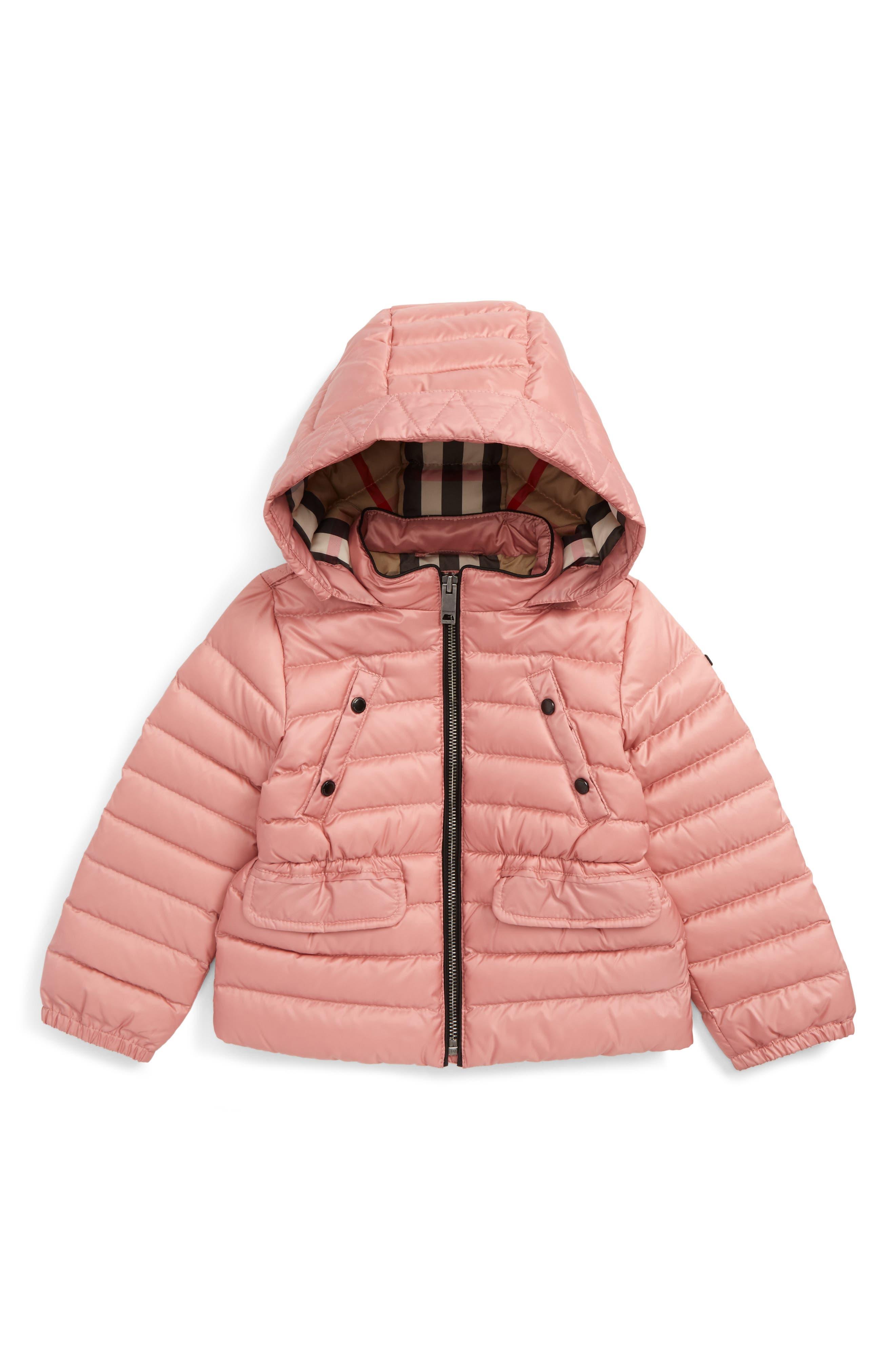 Main Image - Burberry Mini Bronwyn Down Jacket (Baby Girls & Toddler Girls)