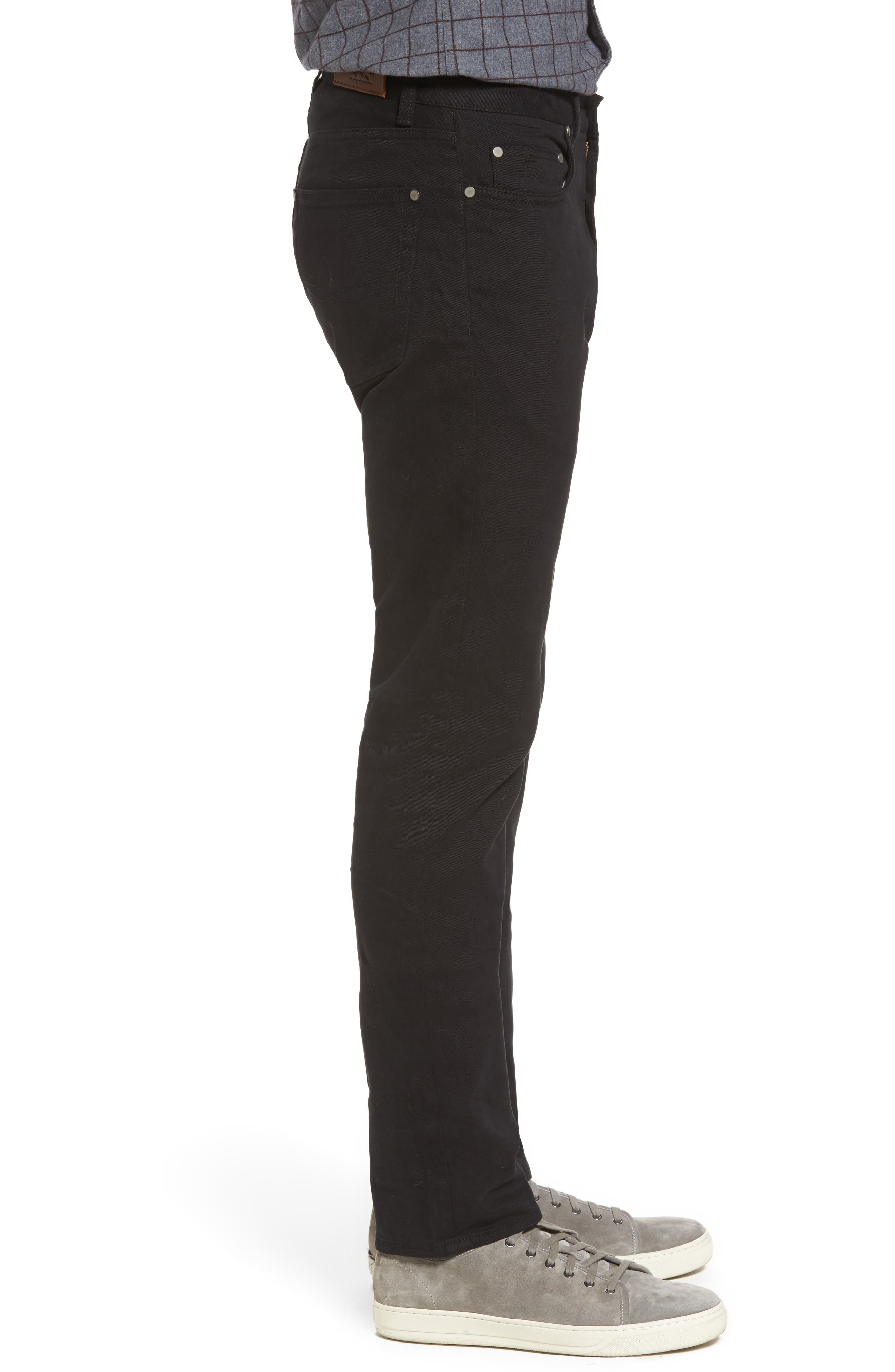 'Barters' Straight Leg Twill Pants,                             Alternate thumbnail 3, color,                             Onyx