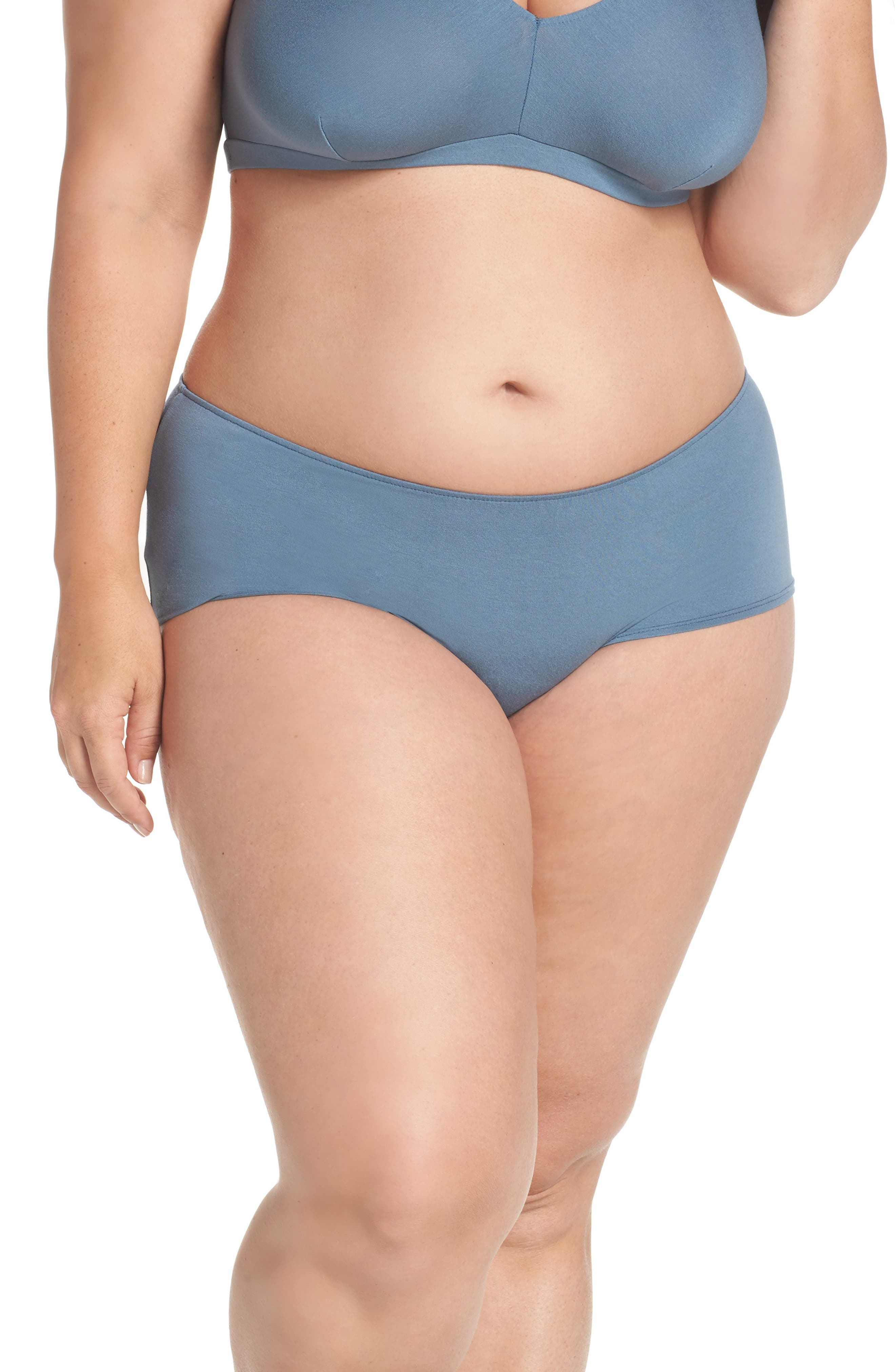 So Fine Ruched Hipster Briefs,                         Main,                         color, Petrol