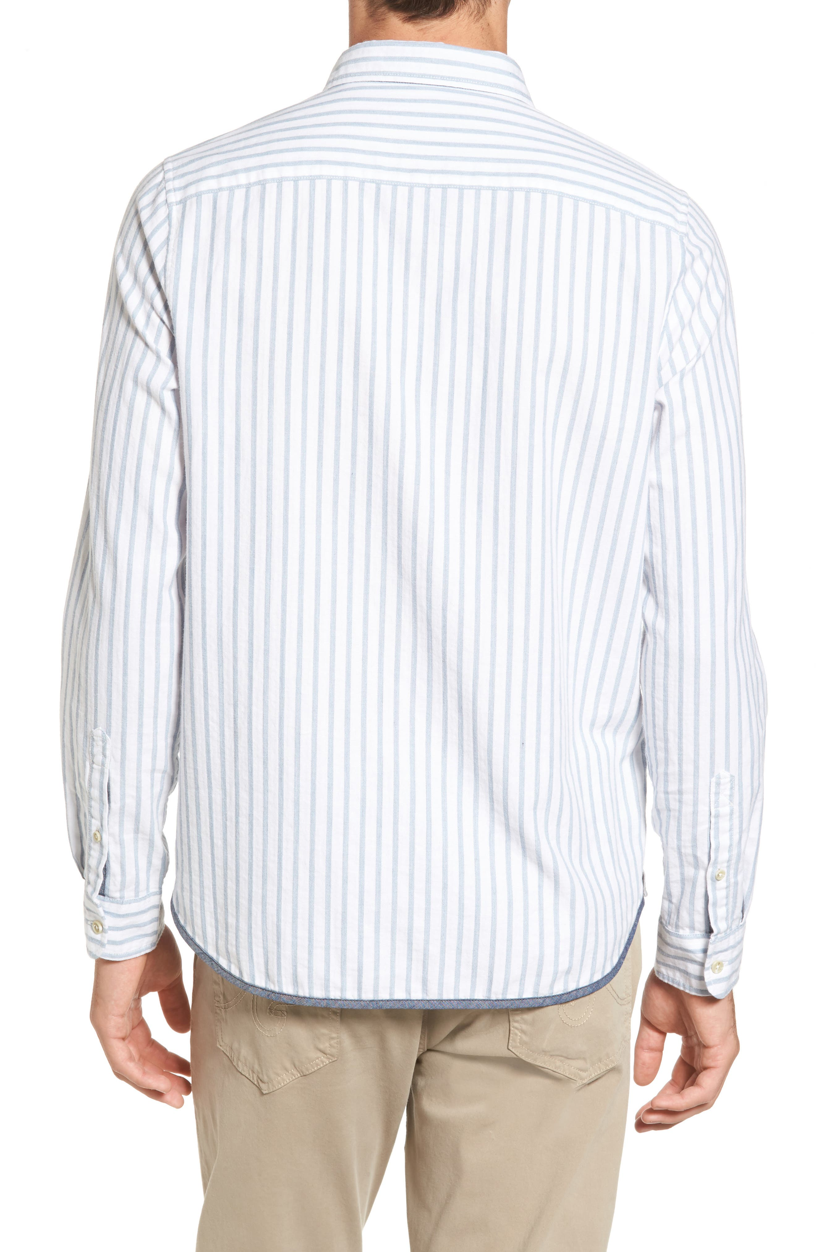 Alternate Image 2  - Michael Bastian Trim Fit Vertical Stripe Sport Shirt