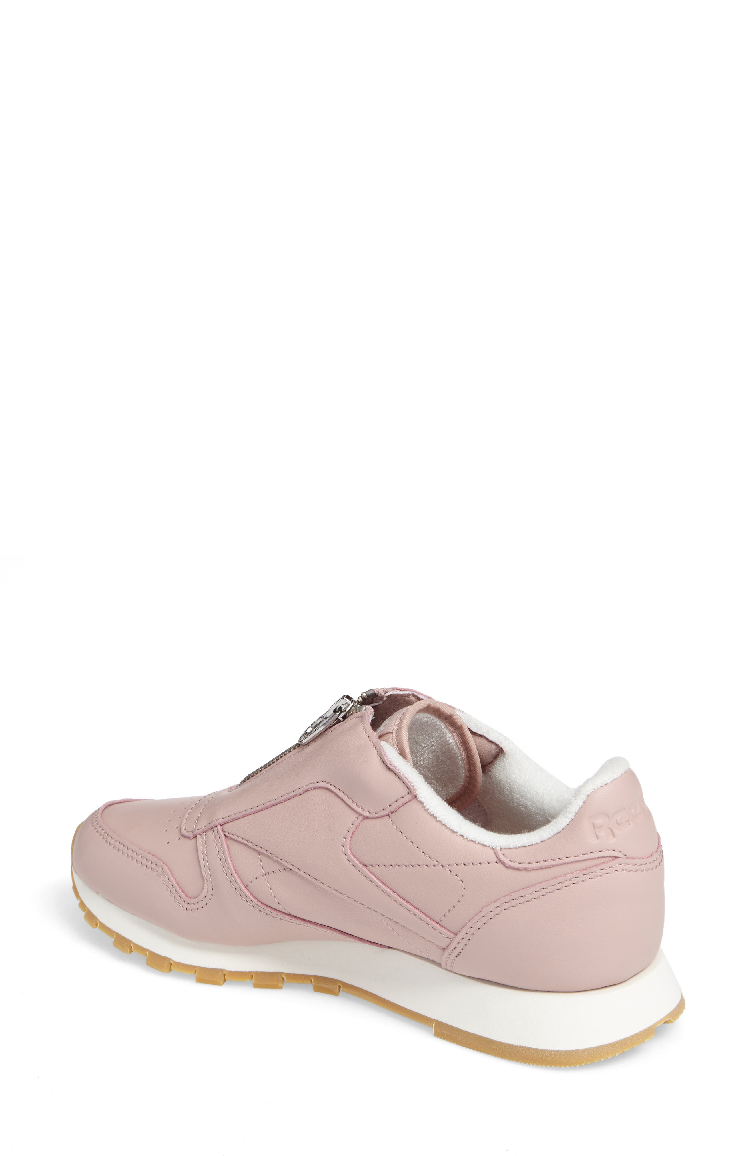 Classic Zip Sneaker,                             Alternate thumbnail 2, color,                             Shell Pink/ Chalk/ Silver