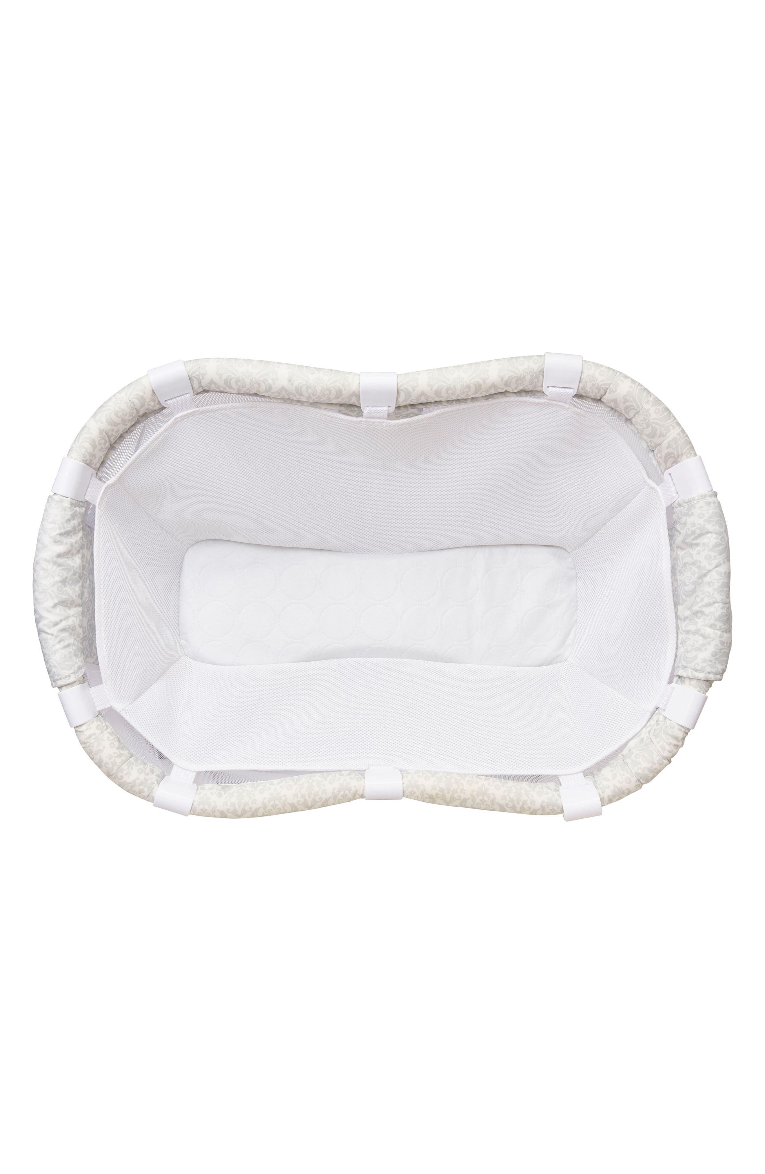Newborn Cuddle Insert for Bassinest<sup>™</sup> Bedside Swivel Sleeper,                             Alternate thumbnail 3, color,                             White Mesh
