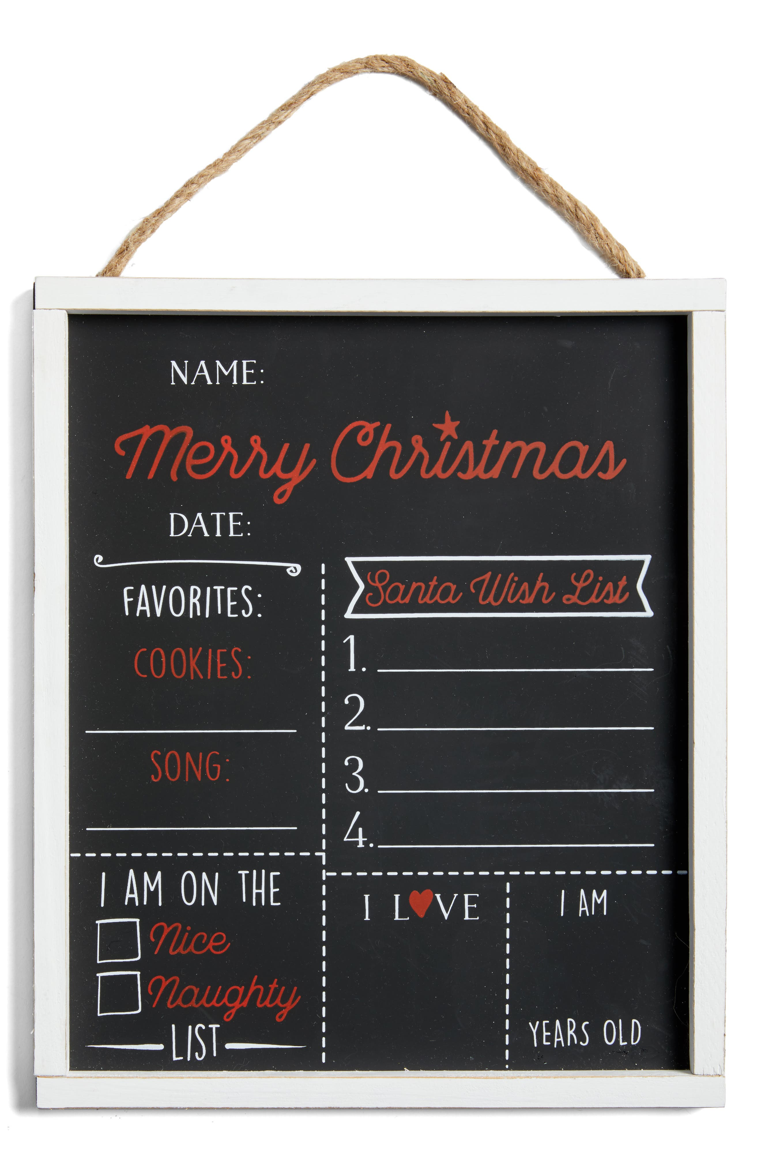 Mud Pie Christmas Chalkboard