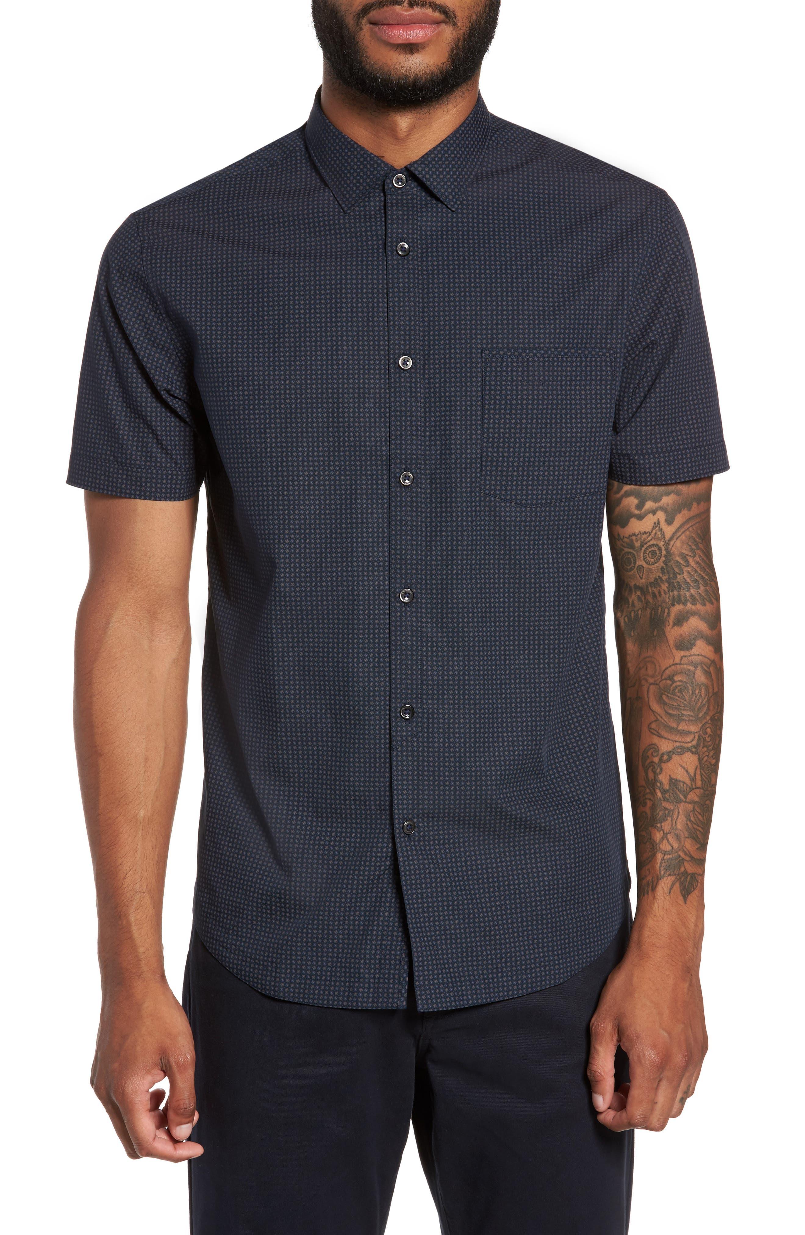Good Man Brand Slim Fit Print Sport Shirt
