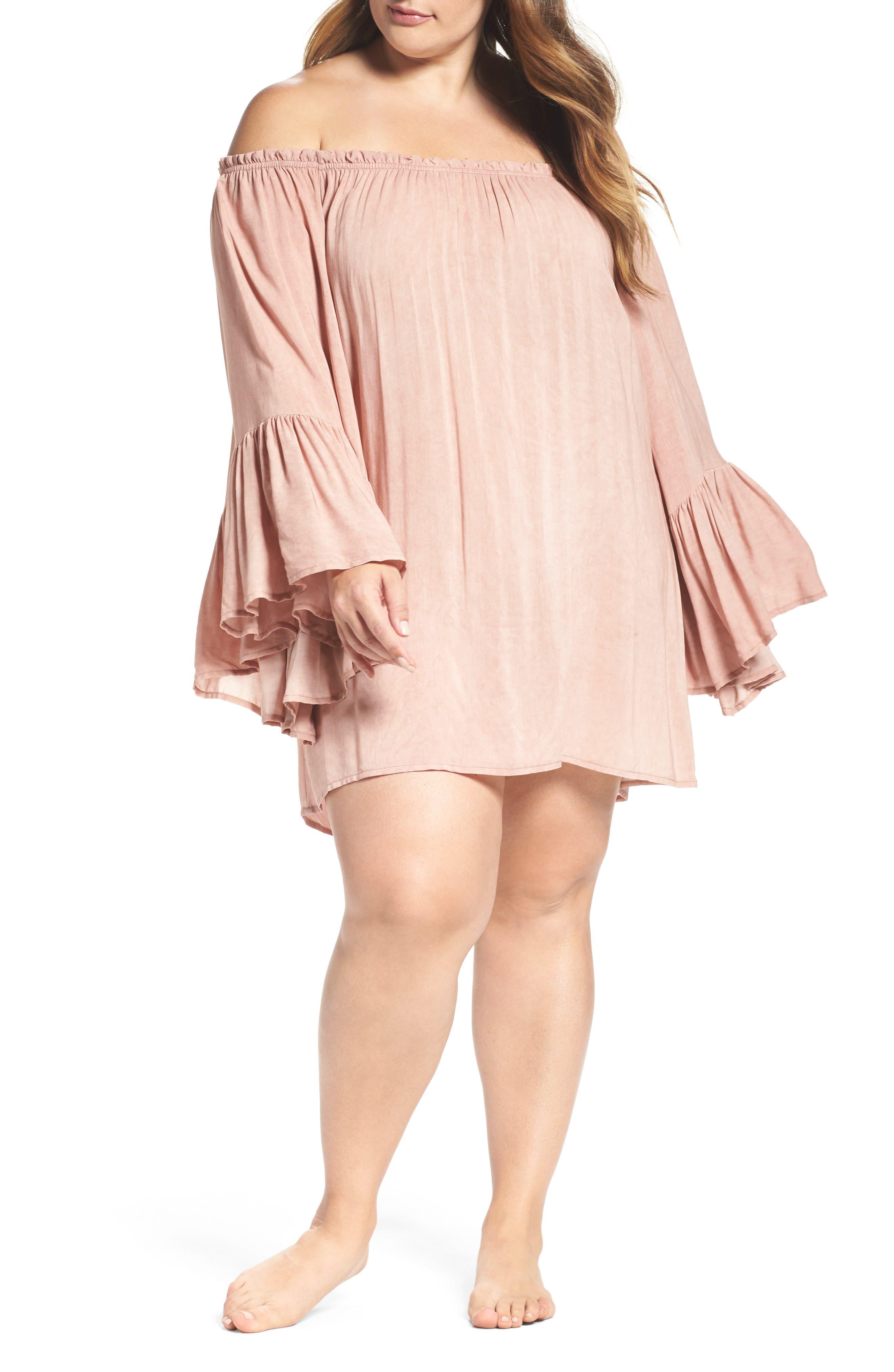 Alternate Image 1 Selected - Elan Cover-Up Dress (Plus Size)