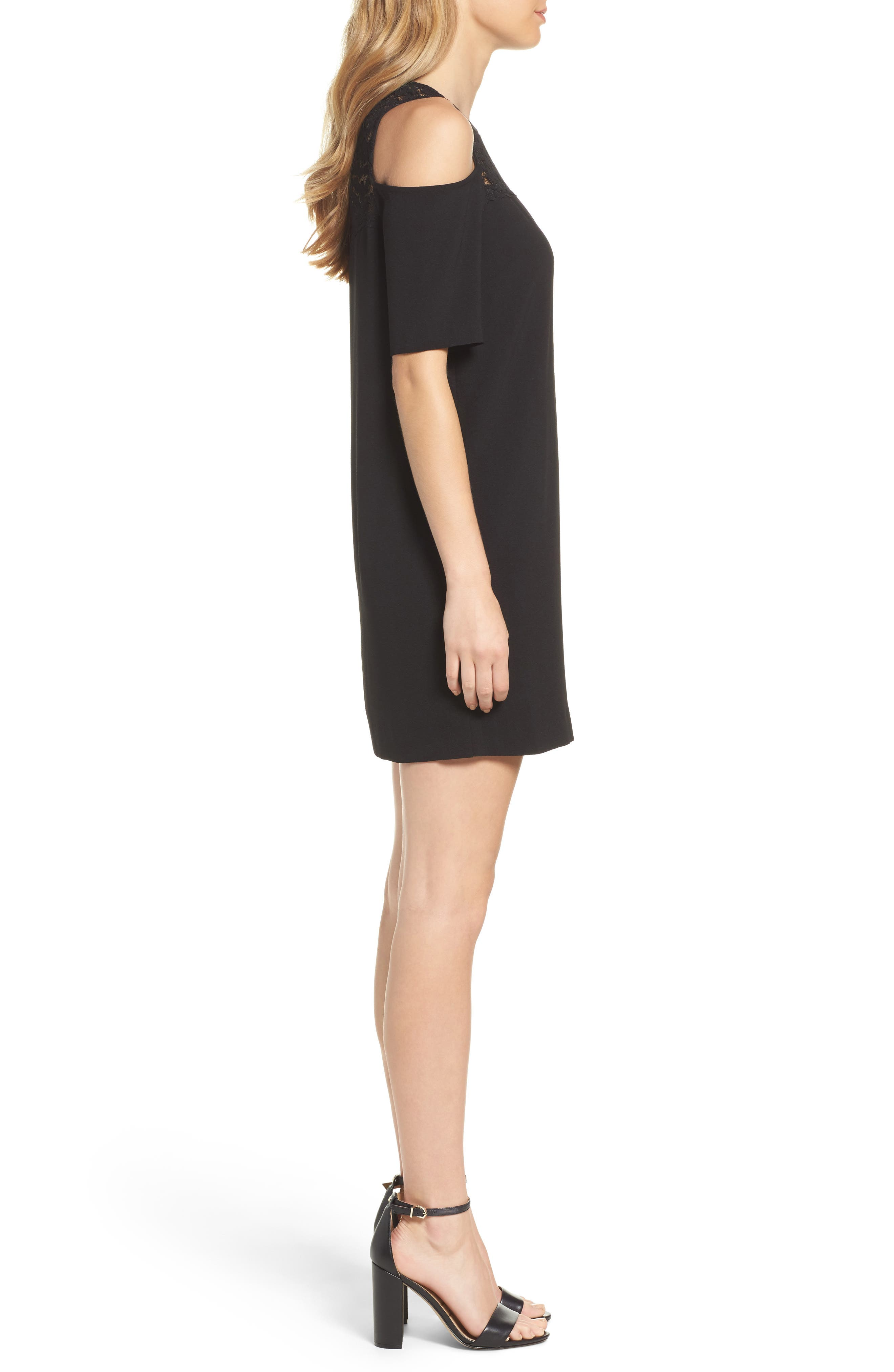 Alternate Image 3  - Felicity & Coco Jess Cold Shoulder Lace Dress