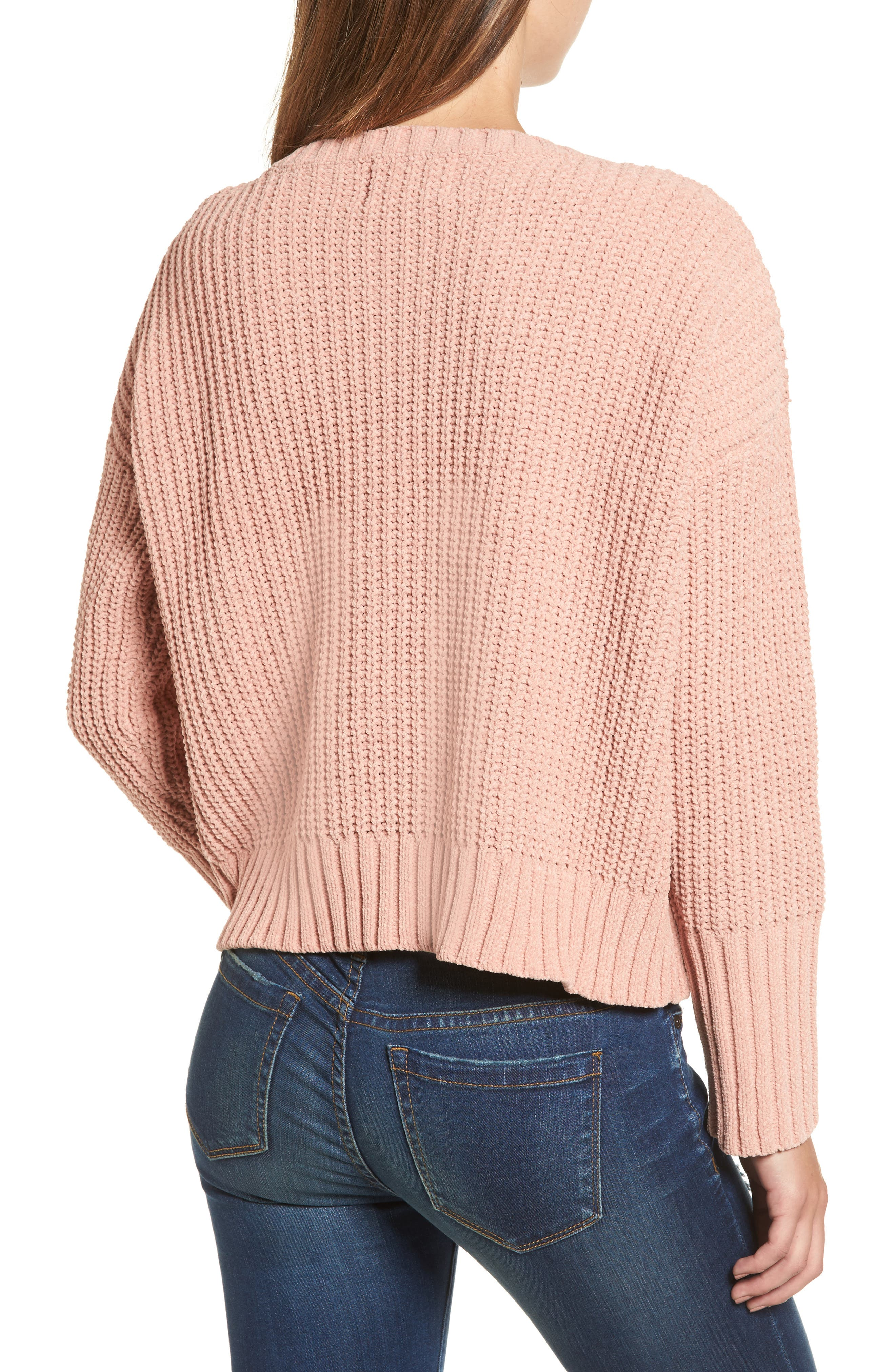 Alternate Image 2  - MOON RIVER Drop Shoulder Chunky Knit Sweater