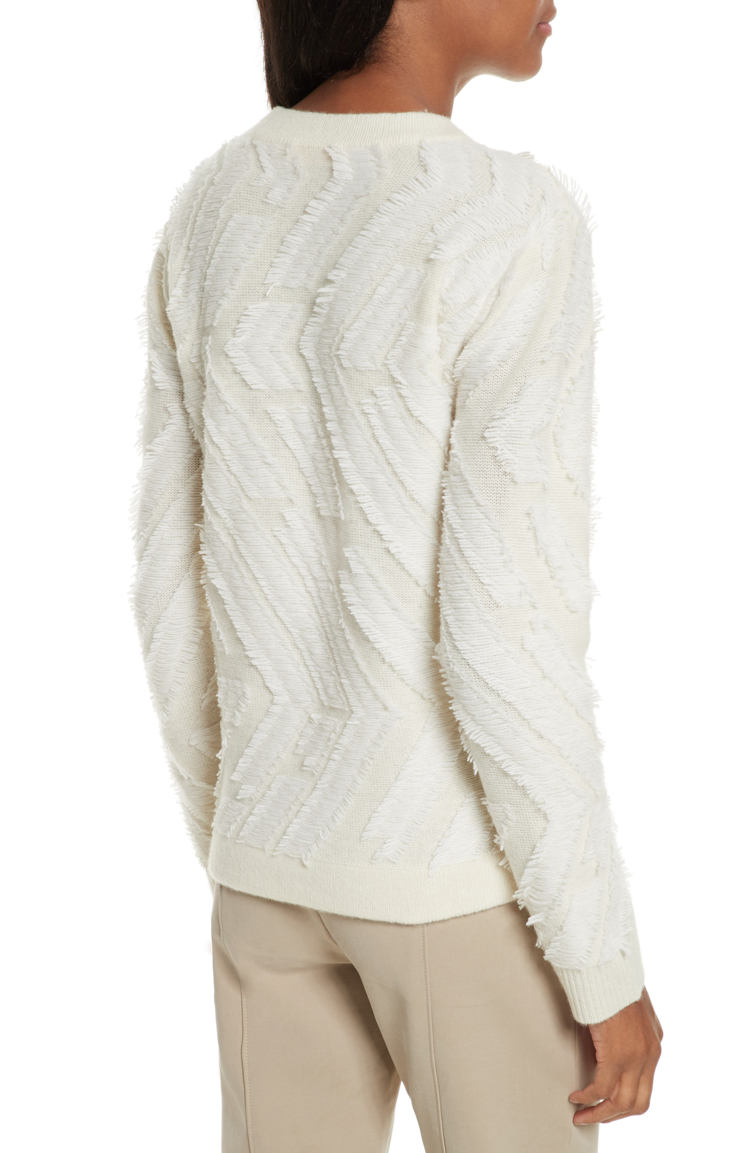 Textured Wool Sweater,                             Alternate thumbnail 2, color,                             New Ivory