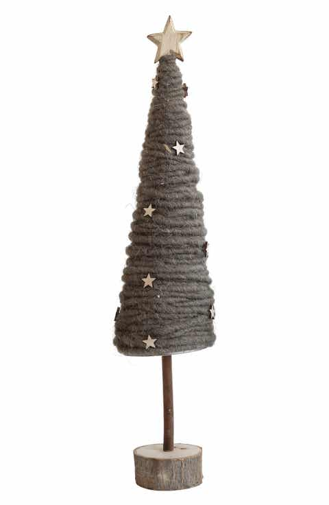 creative co op tall wool tree - Fully Decorated Christmas Trees For Sale