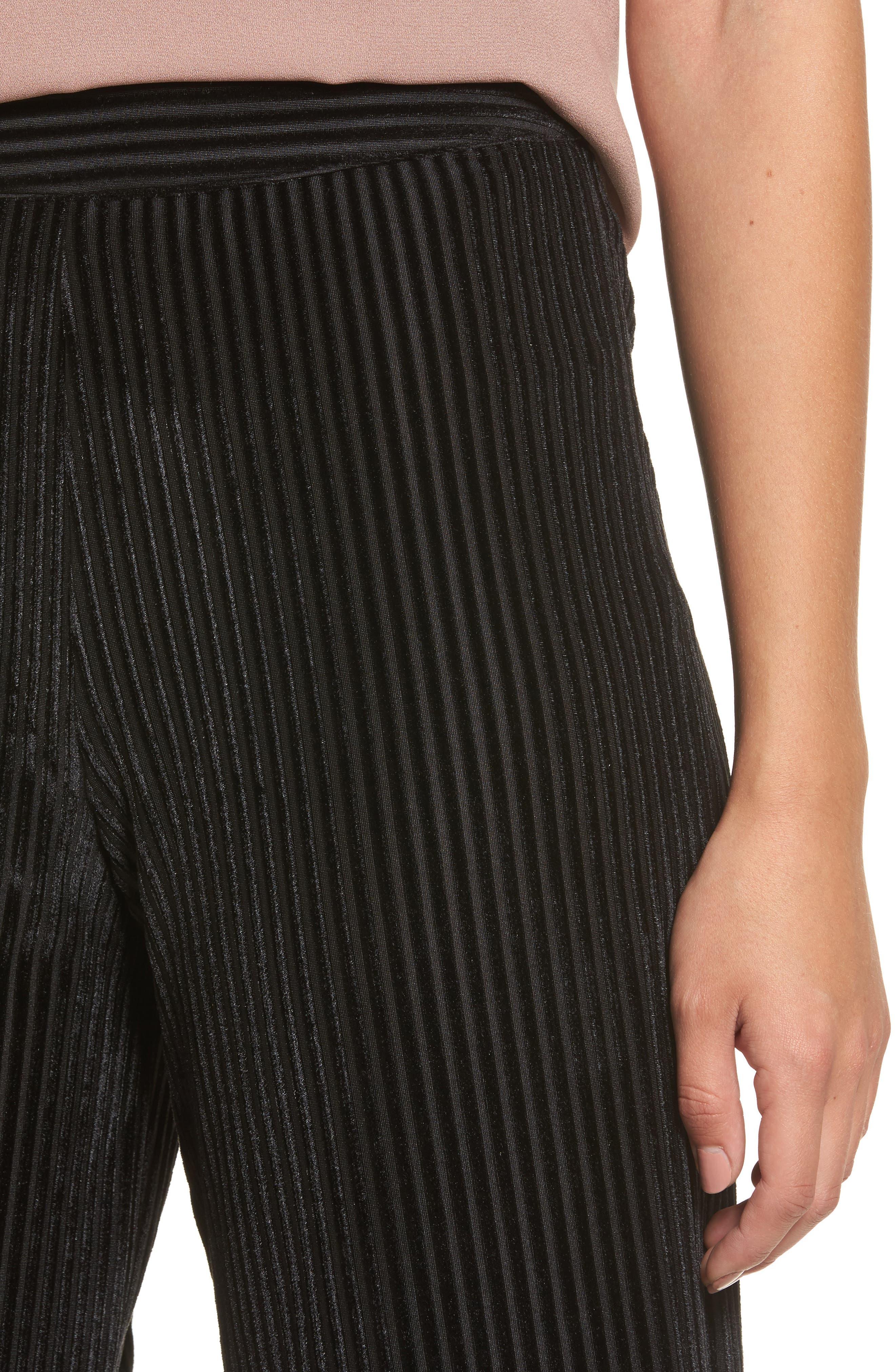 Marley Velvet Pants,                             Alternate thumbnail 4, color,                             Black