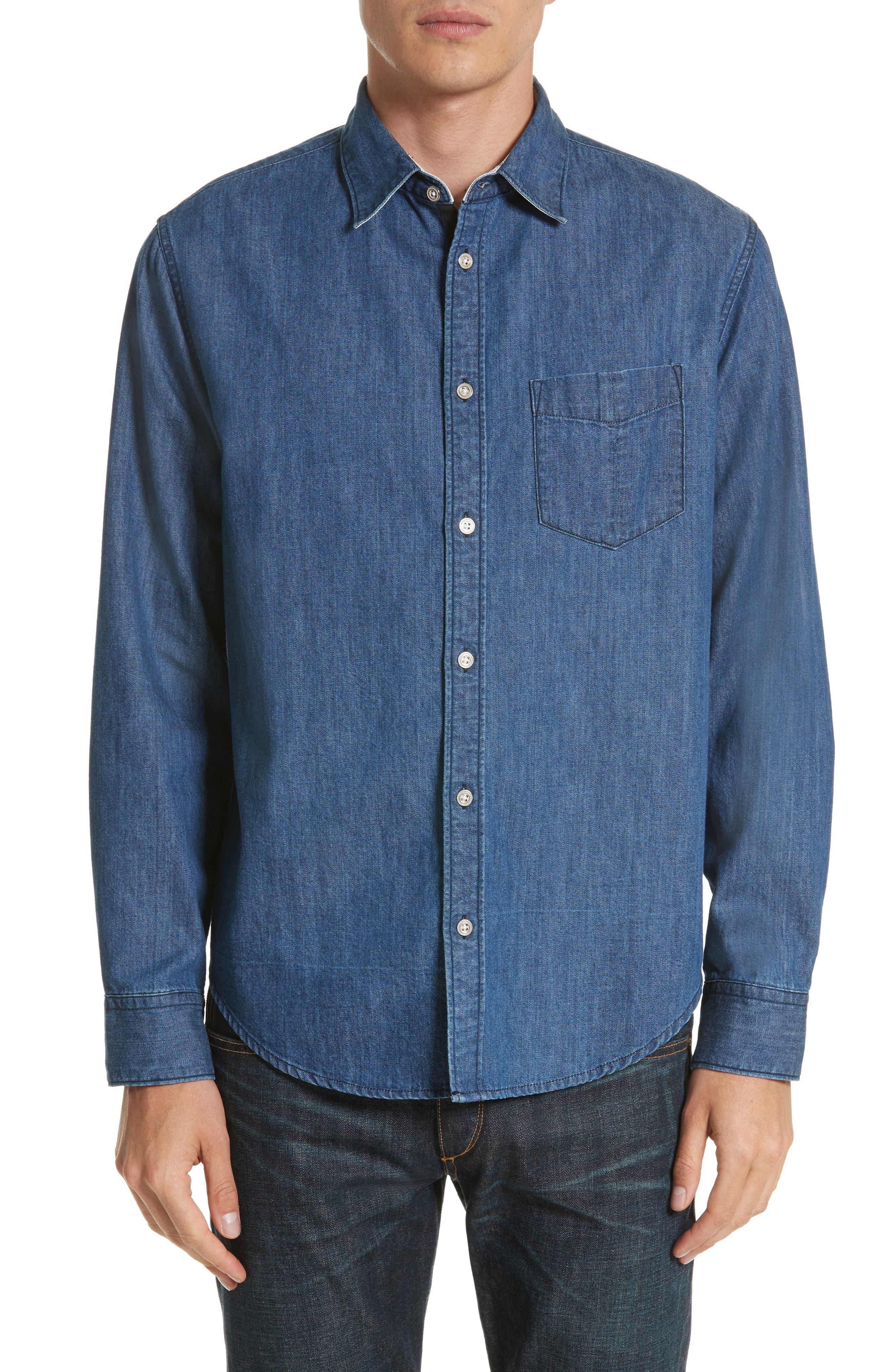 rag & bone Fit 3 Woven Denim Shirt