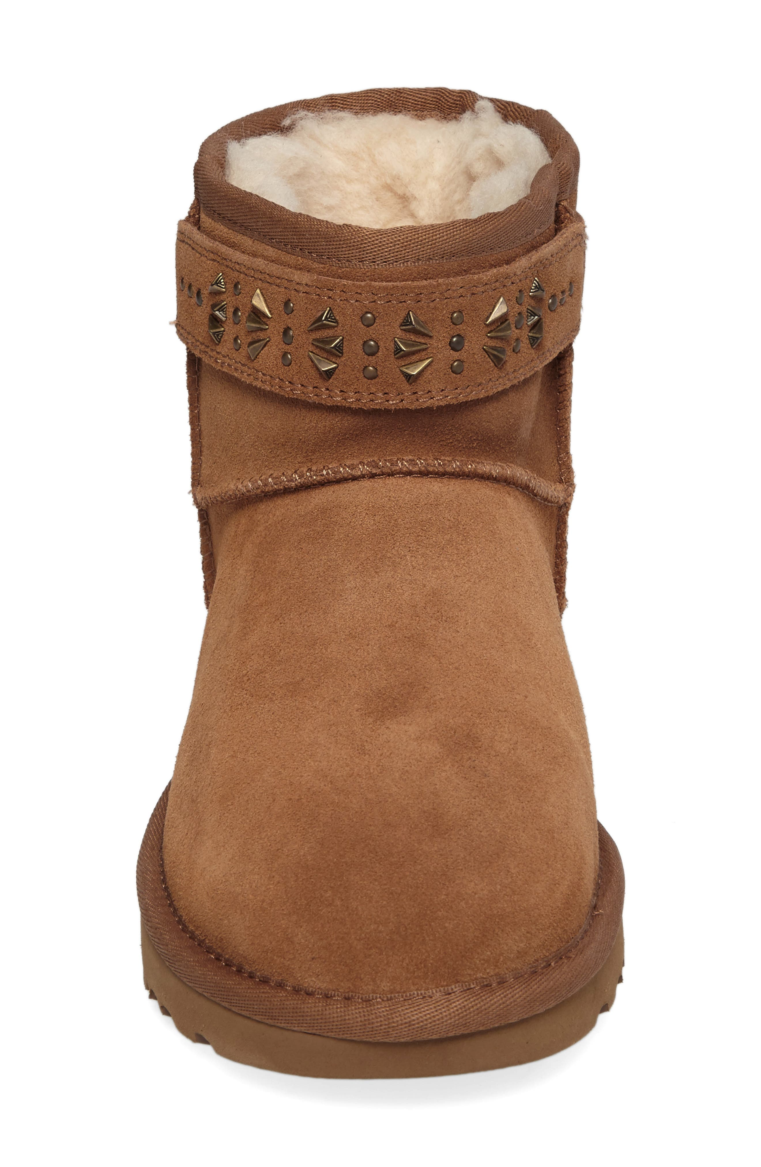 Jadine Boot,                             Alternate thumbnail 4, color,                             Chestnut Suede