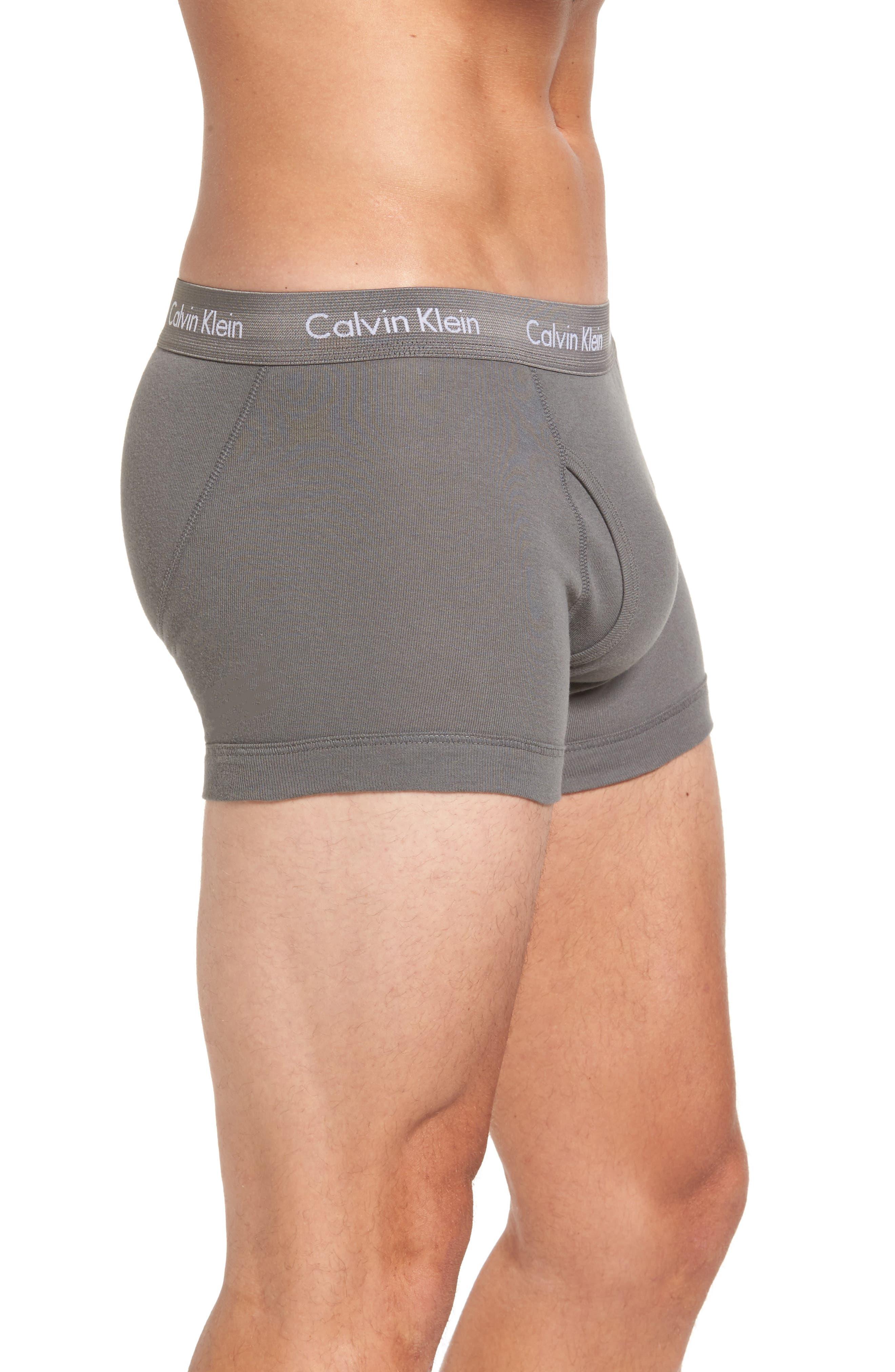 Alternate Image 4  - Calvin Klein Cotton Trunks (3-Pack)