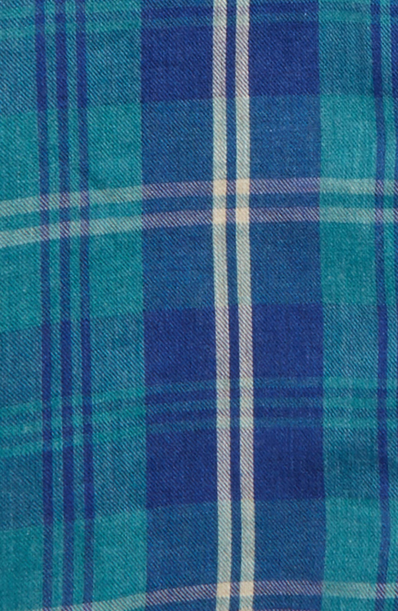 Plaid Double Cloth Shirt,                             Alternate thumbnail 2, color,                             Blue Estate Plaid