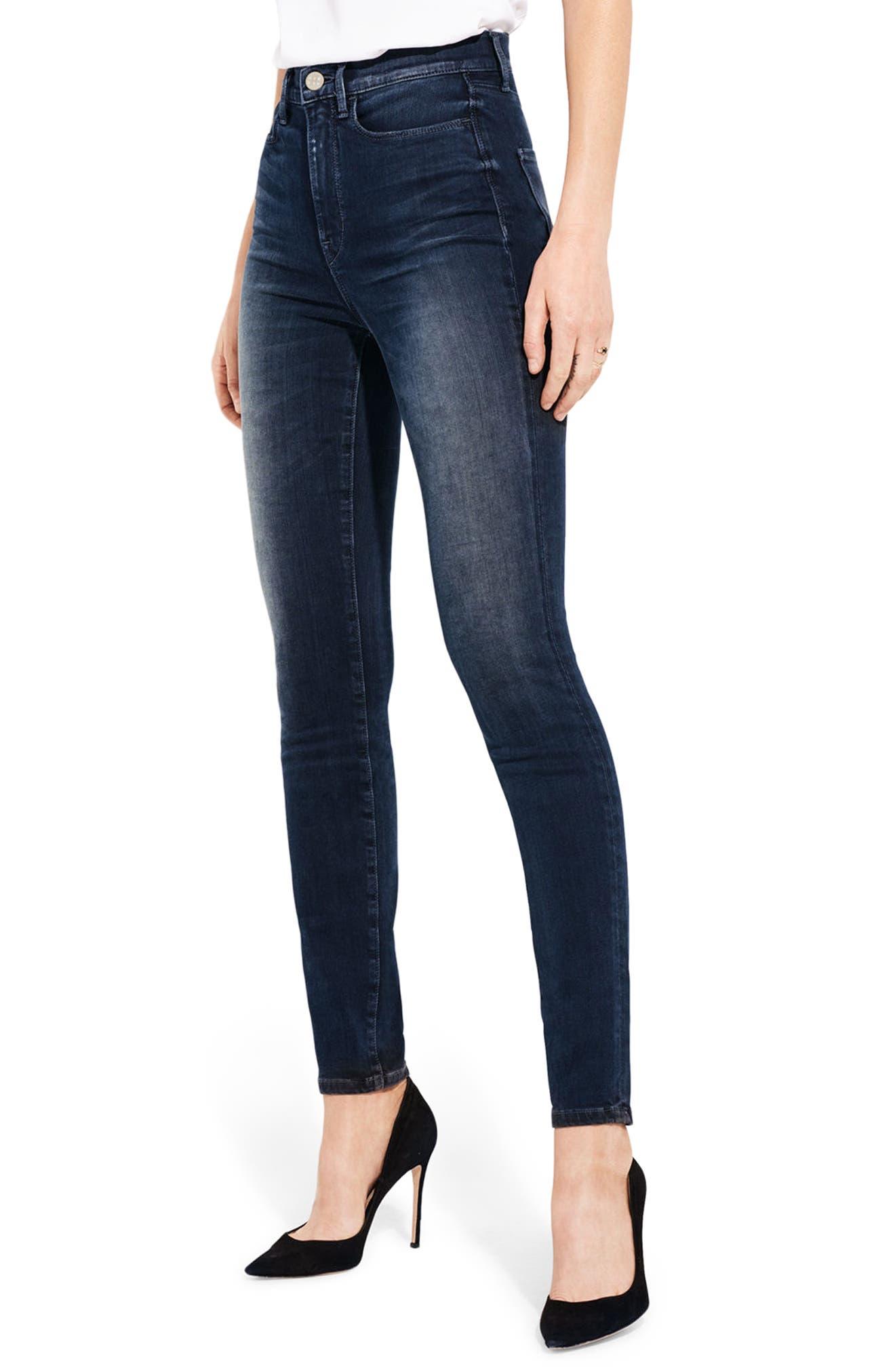 The Hi Rise High Waist Skinny Jeans,                             Alternate thumbnail 4, color,                             Night Of Joy