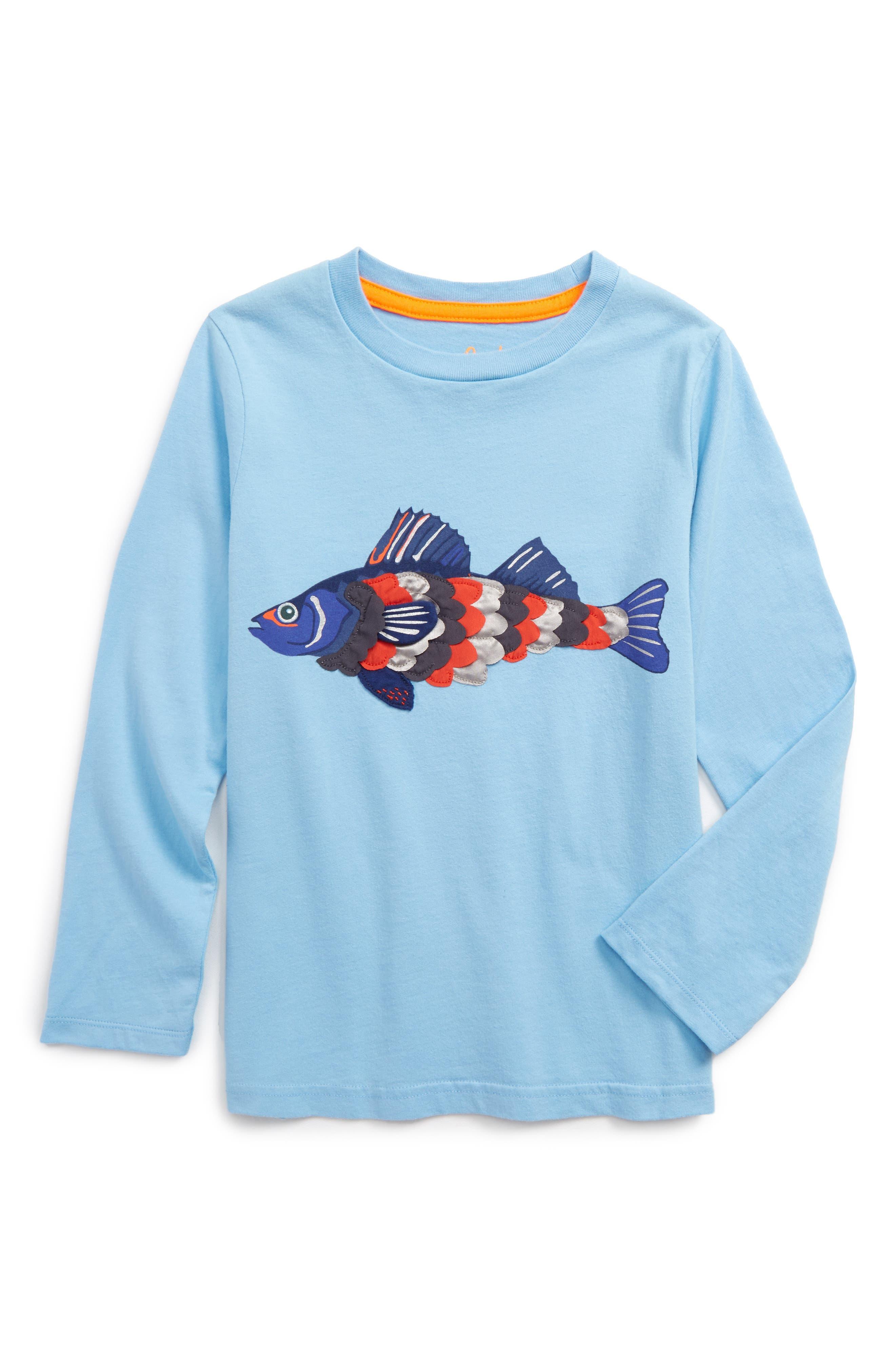 Textured Creature T-Shirt,                         Main,                         color, Light Sky Blue Fish