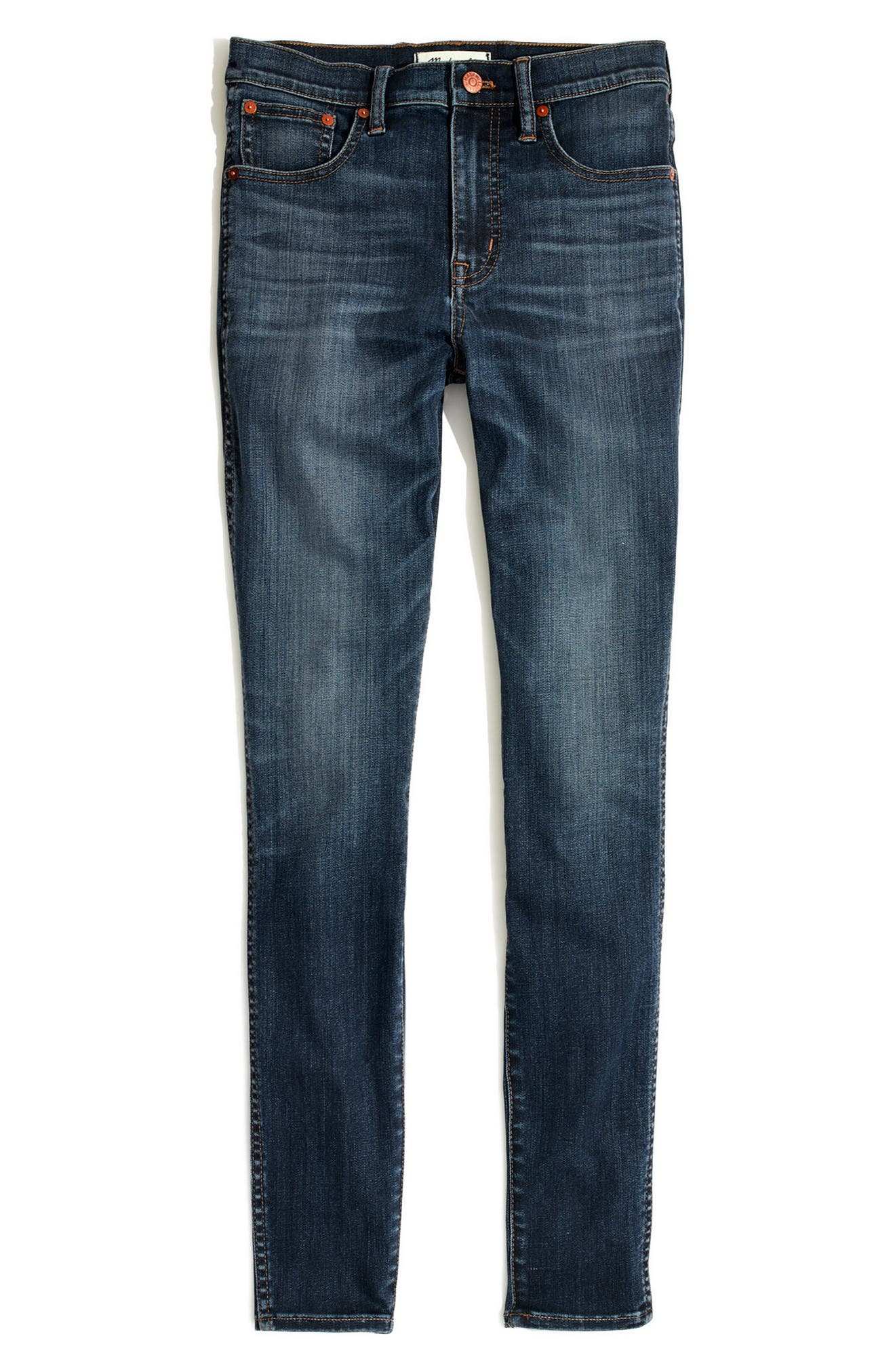 Alternate Image 4  - Madewell 10-Inch High Waist Skinny Jeans (Danny)(Petite)