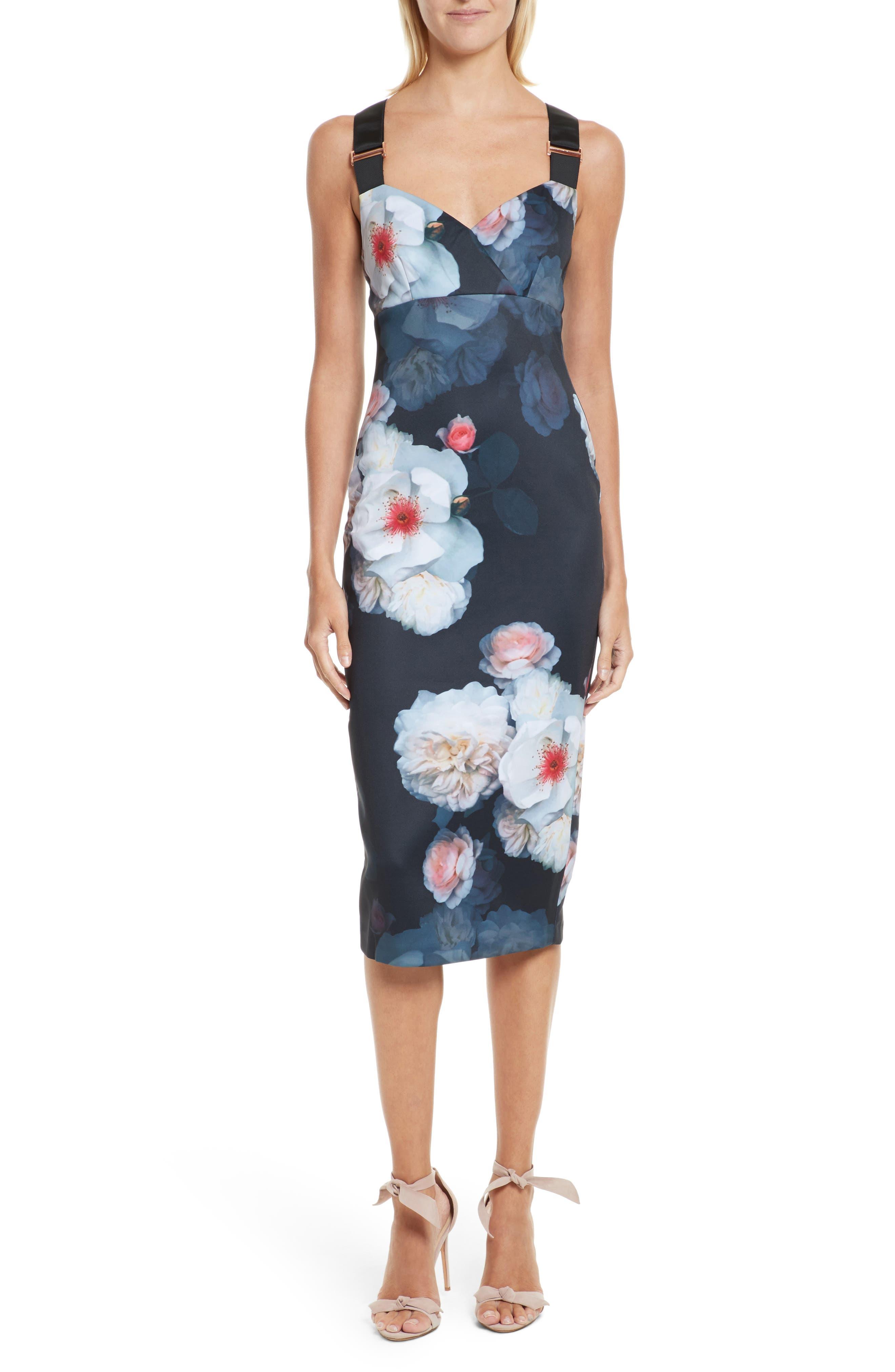 Teeki Chelsea Body-Con Dress,                         Main,                         color, Black