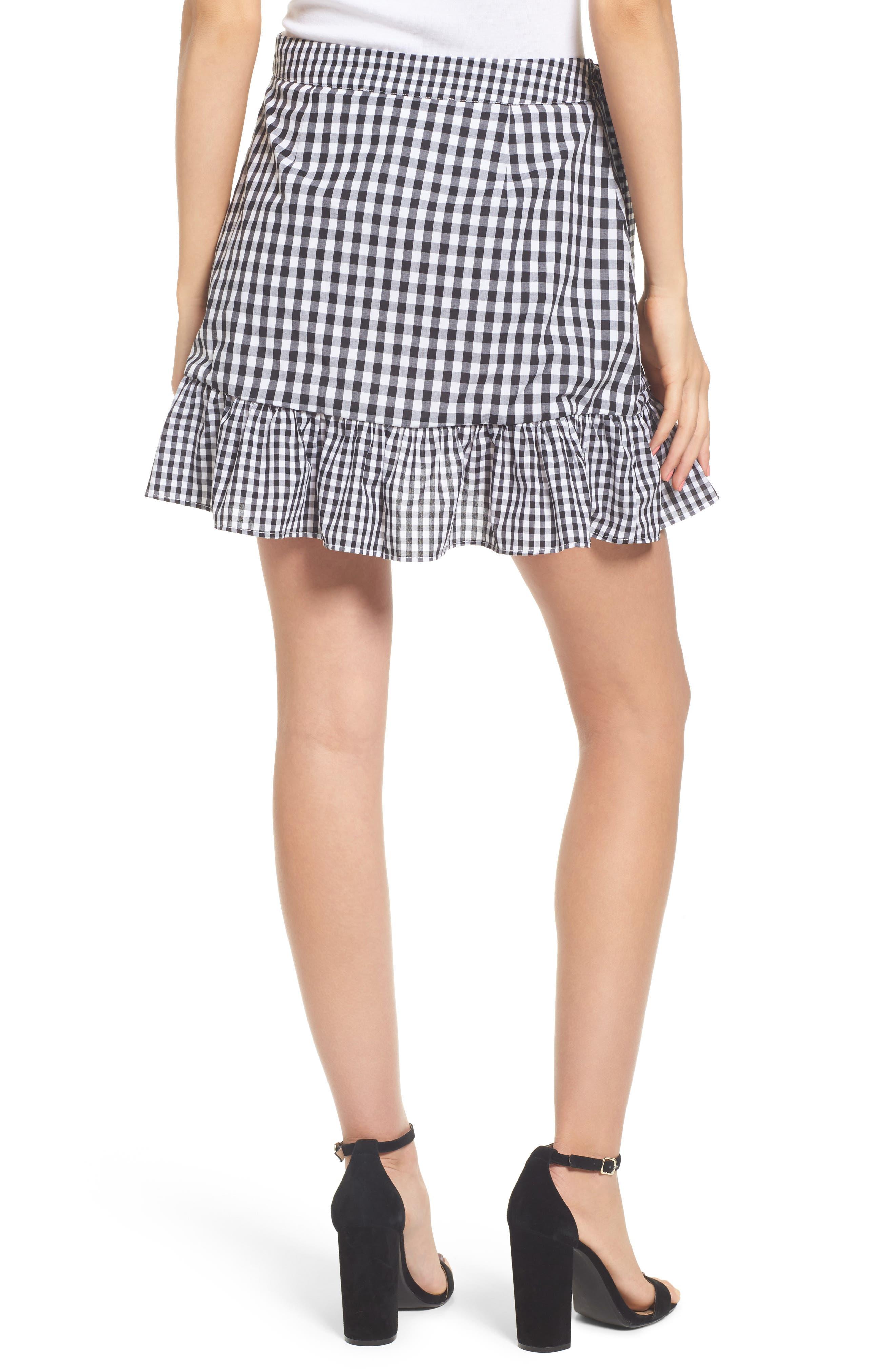 Cinci Wrap Skirt,                             Alternate thumbnail 2, color,                             Black/ White