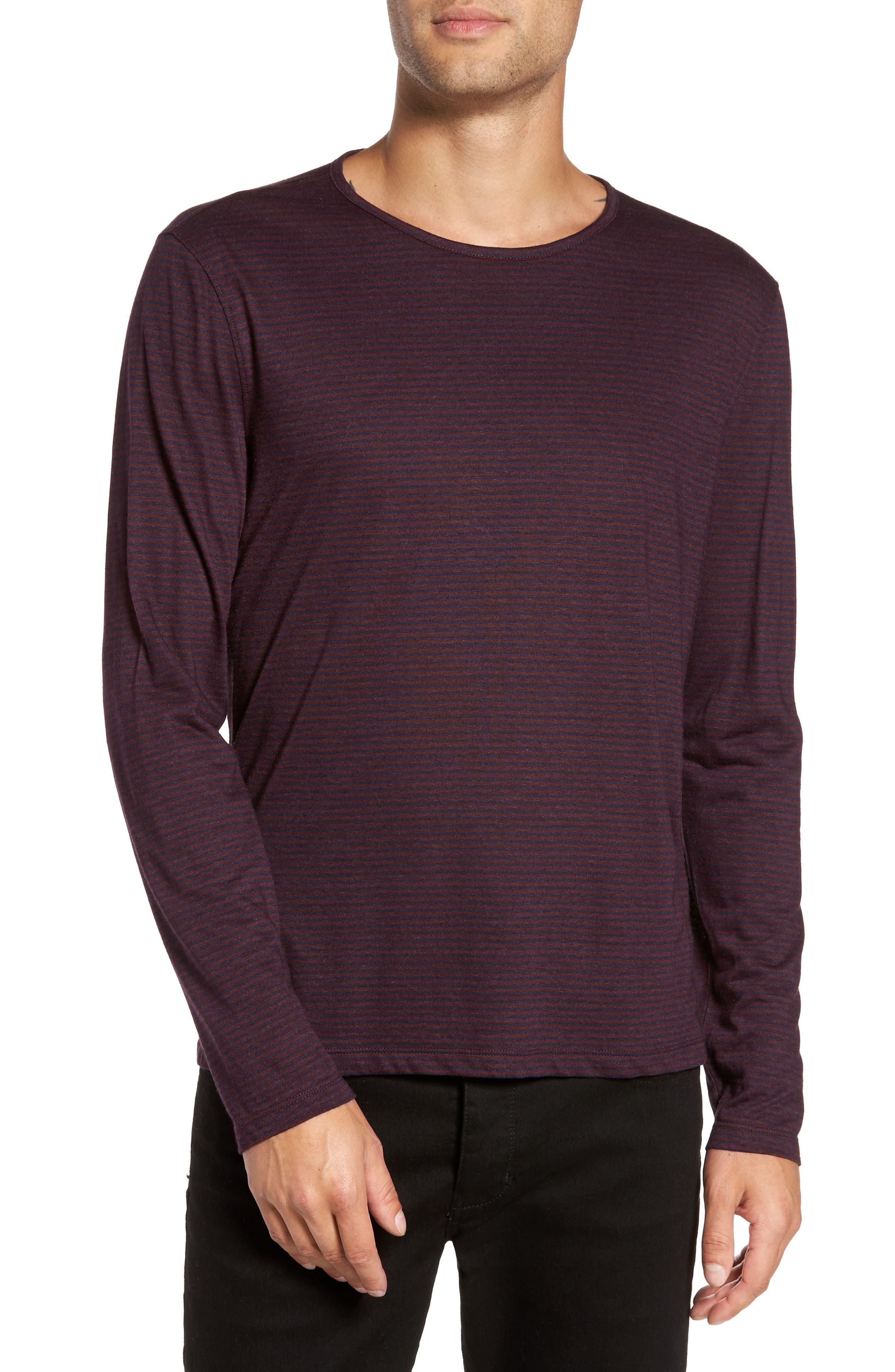 John Varvatos Star USA Stripe Long Sleeve T-Shirt