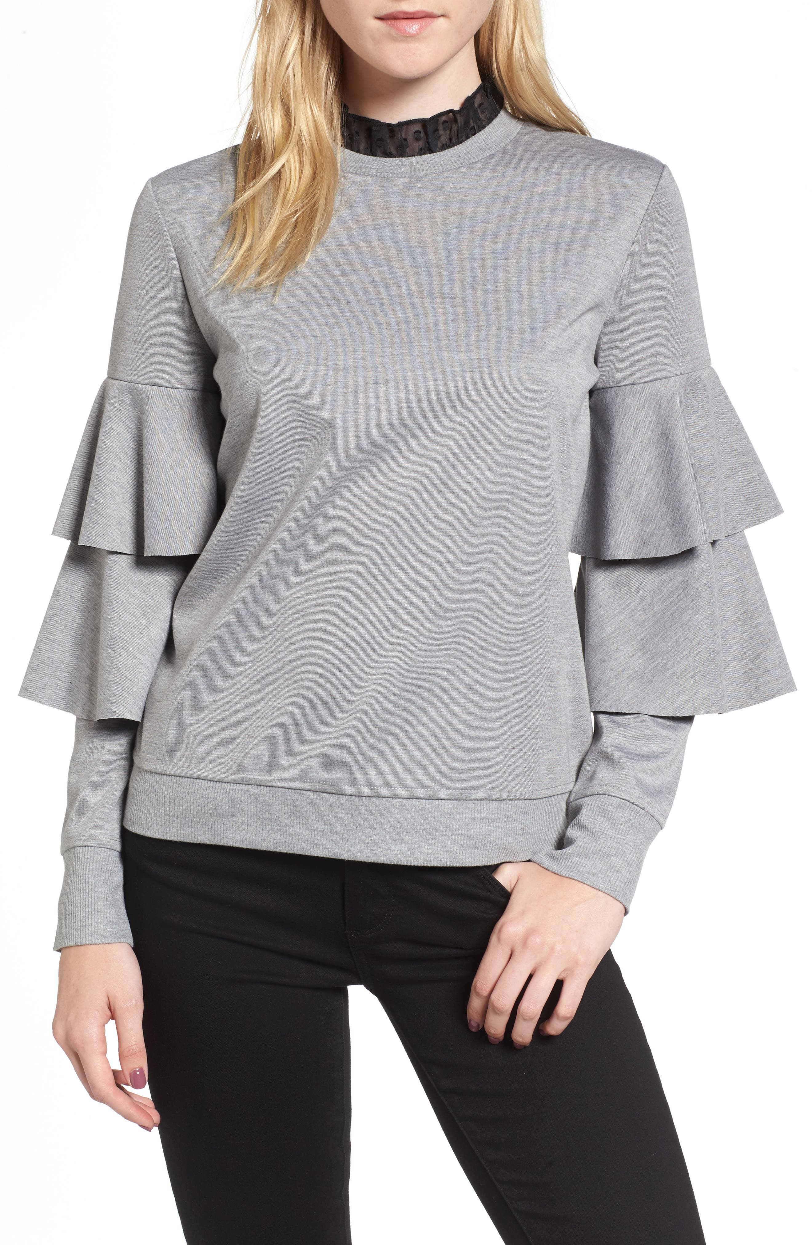 Chelsea28 Ruffle Sleeve Sweatshirt