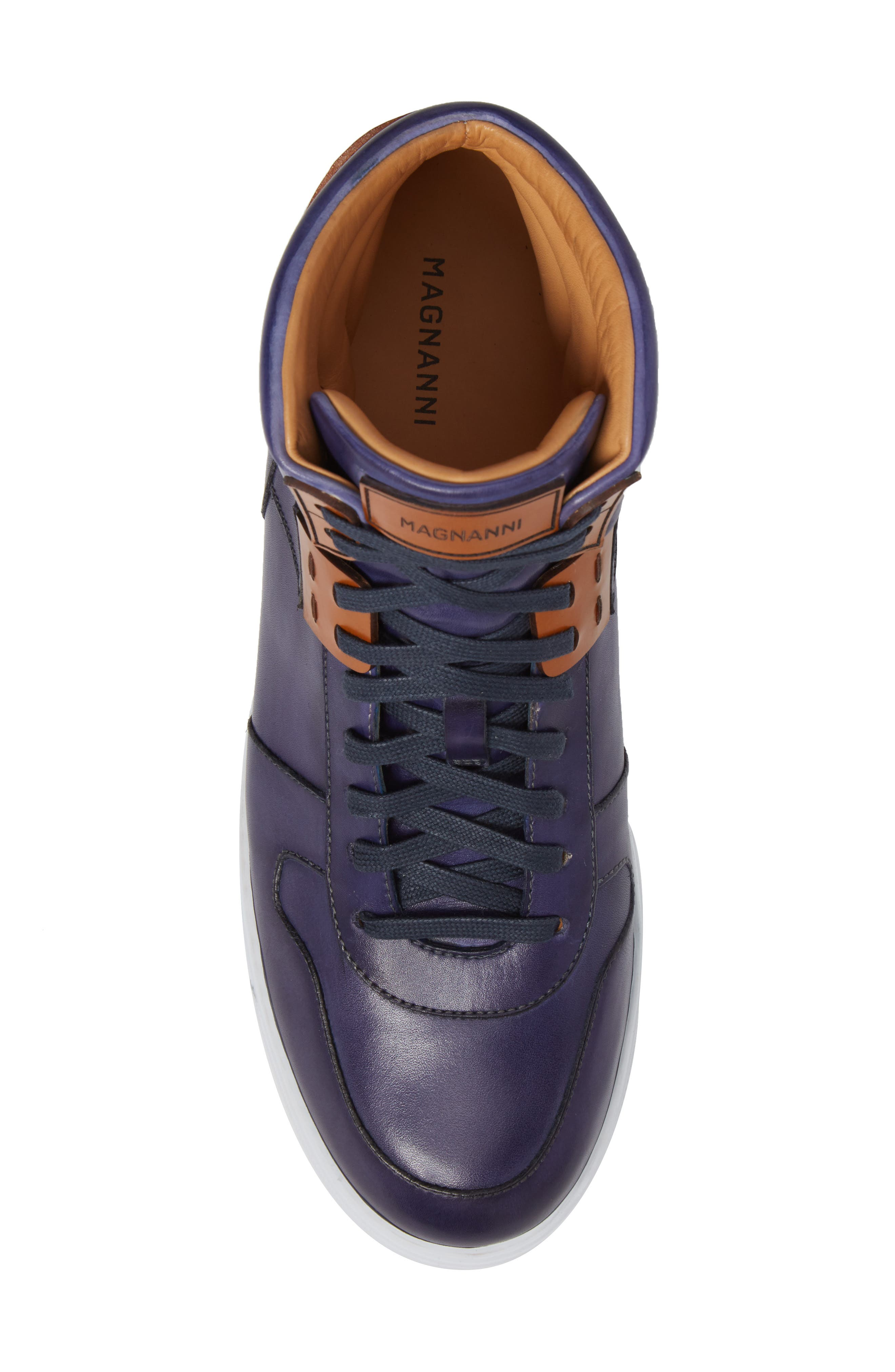 Endo Hi Sneaker,                             Alternate thumbnail 5, color,                             Navy Leather