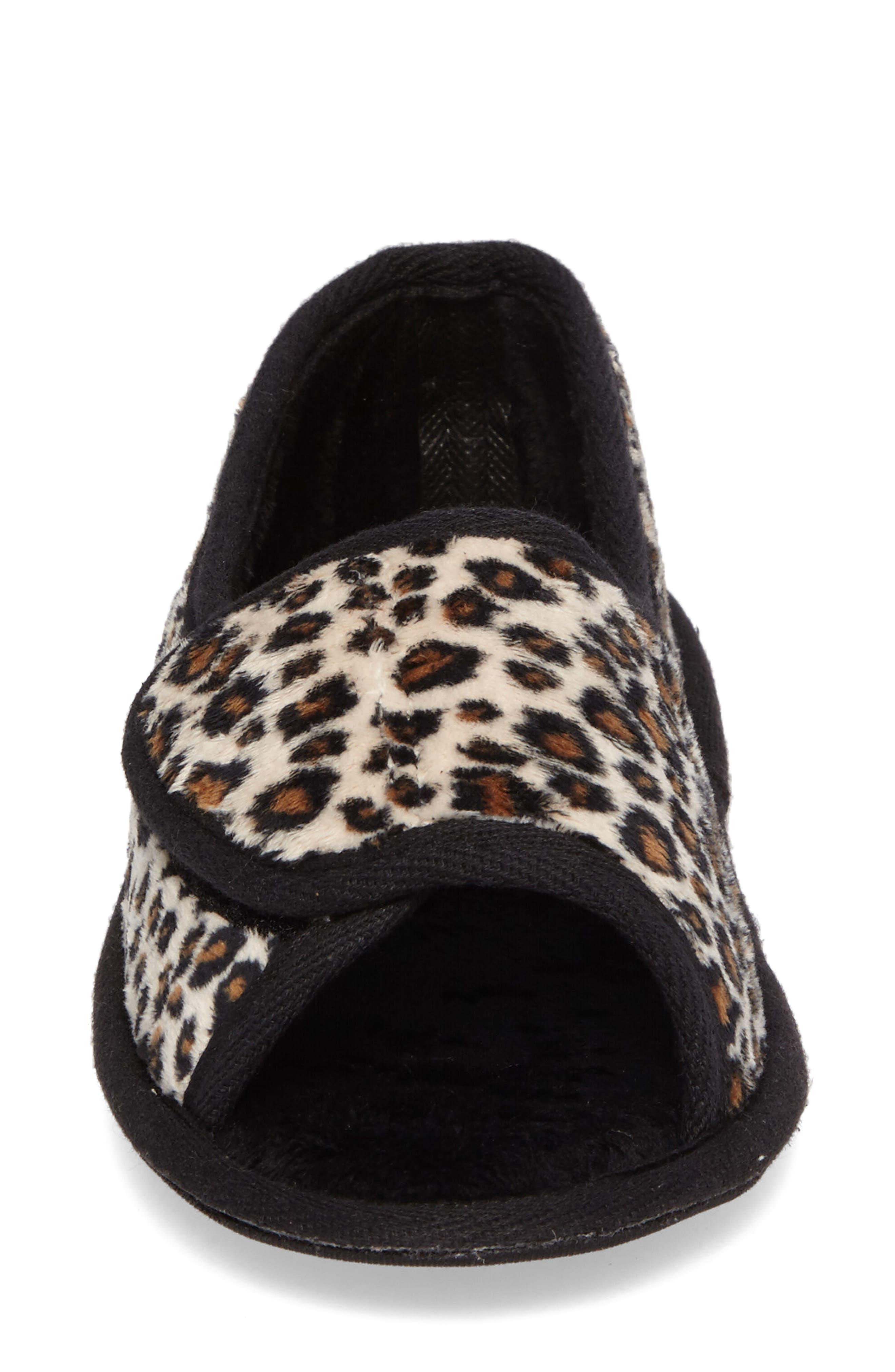 Tara II Slipper,                             Alternate thumbnail 4, color,                             Cheetah Fabric