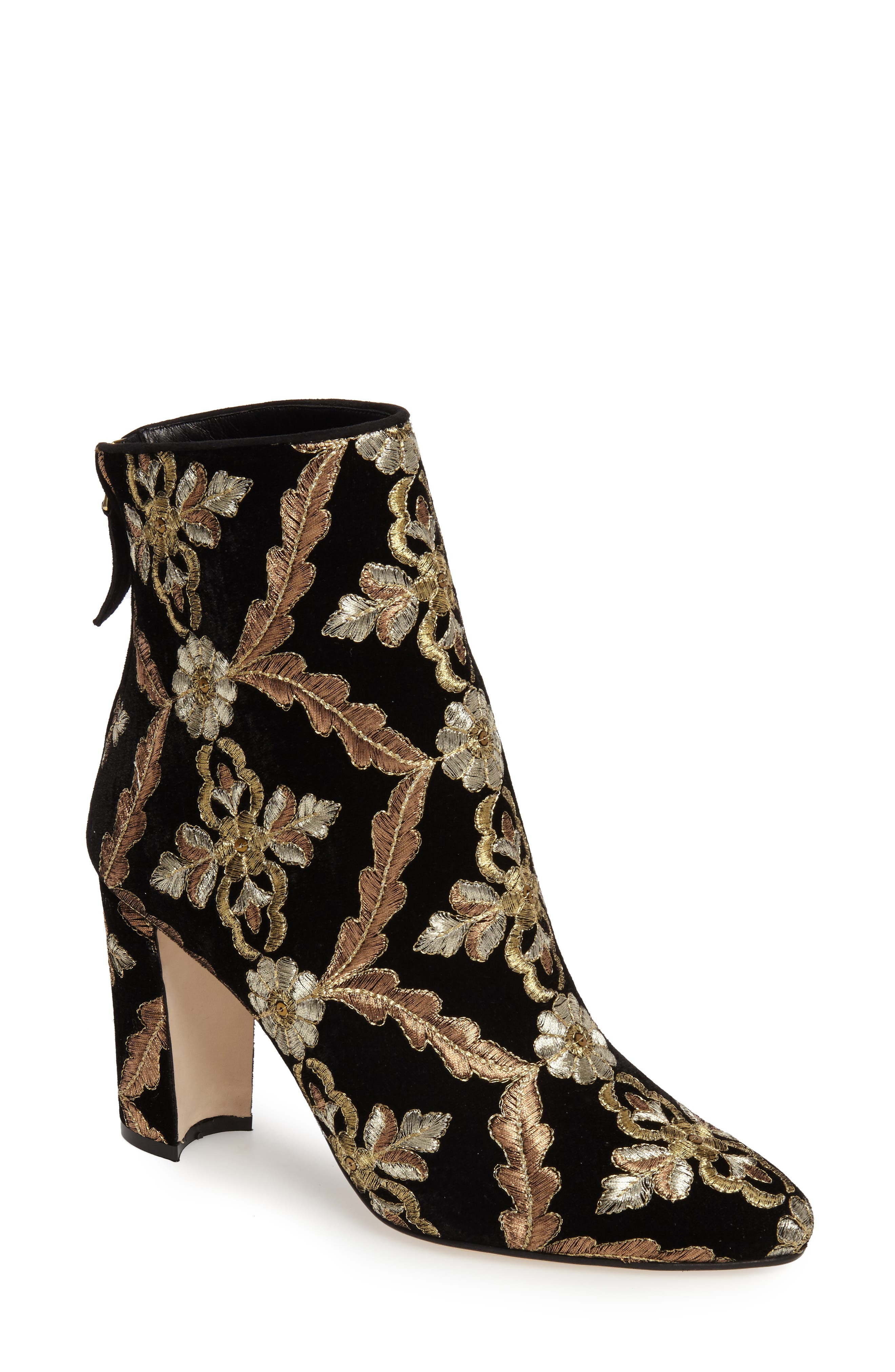 Manolo Blahnik Isola Brocade Bootie (Women)