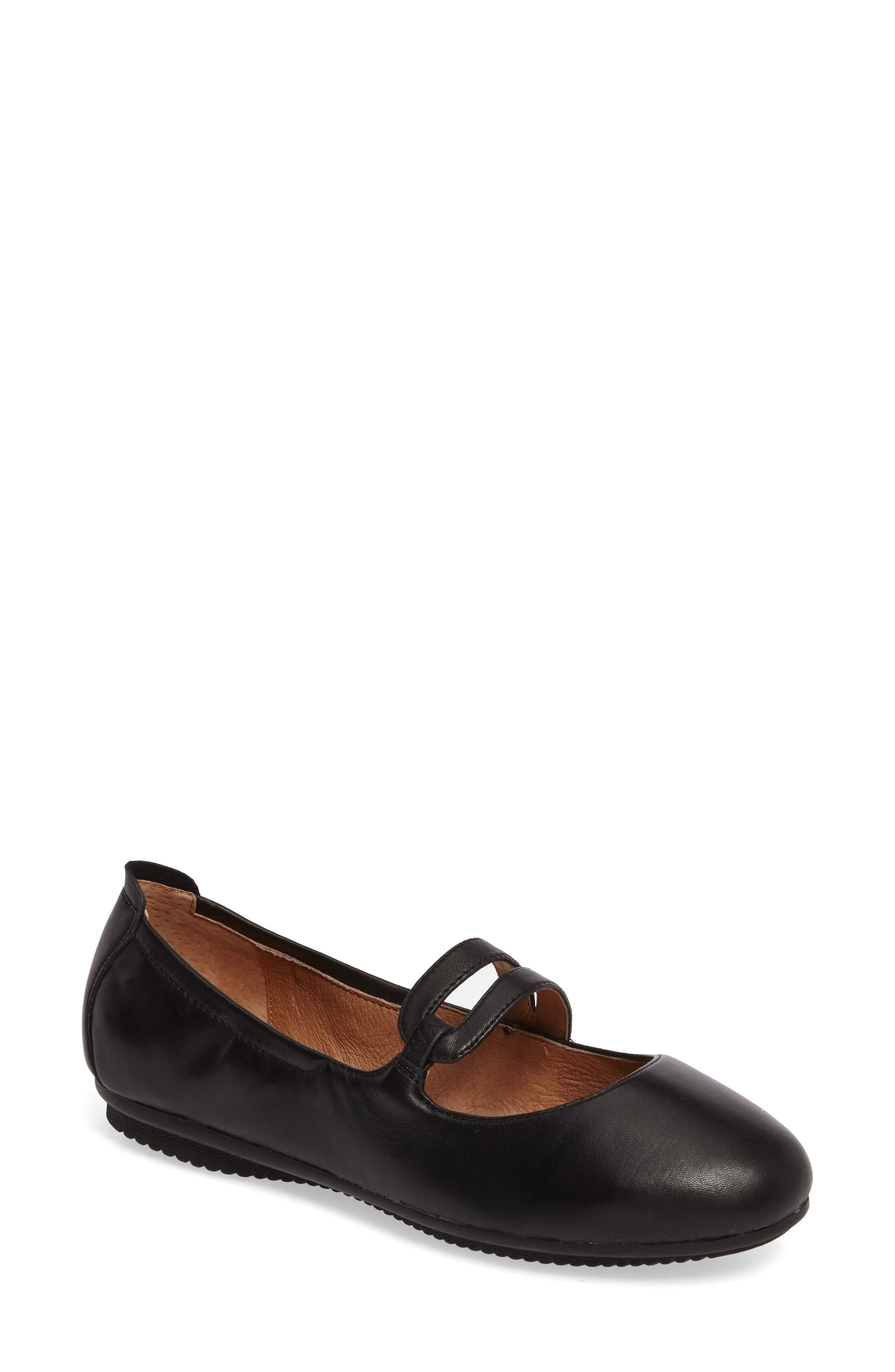 Pippa 63 Flat,                         Main,                         color, Black Leather