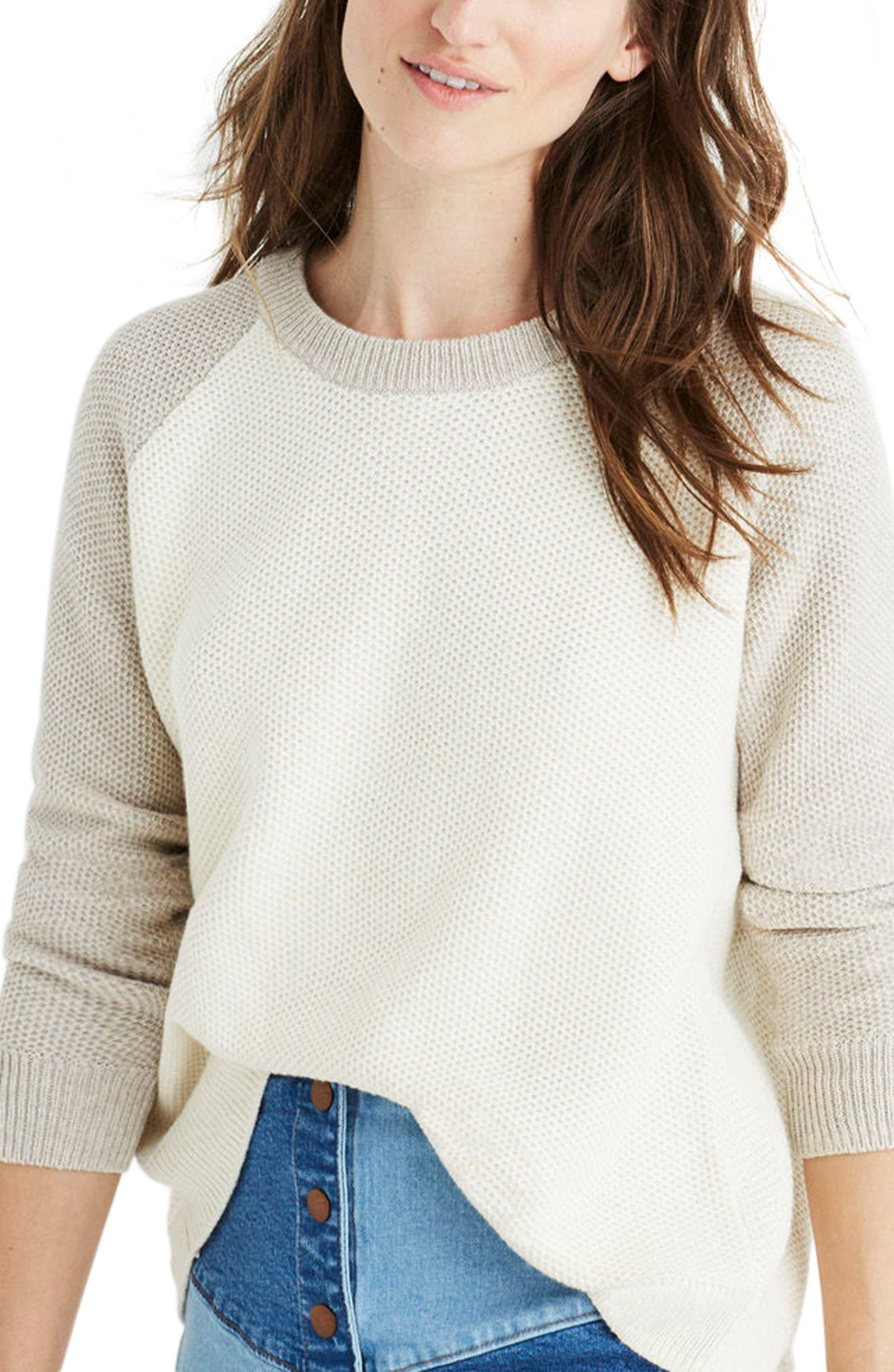 Crossback Sweater,                             Alternate thumbnail 3, color,                             Heather Moonstone