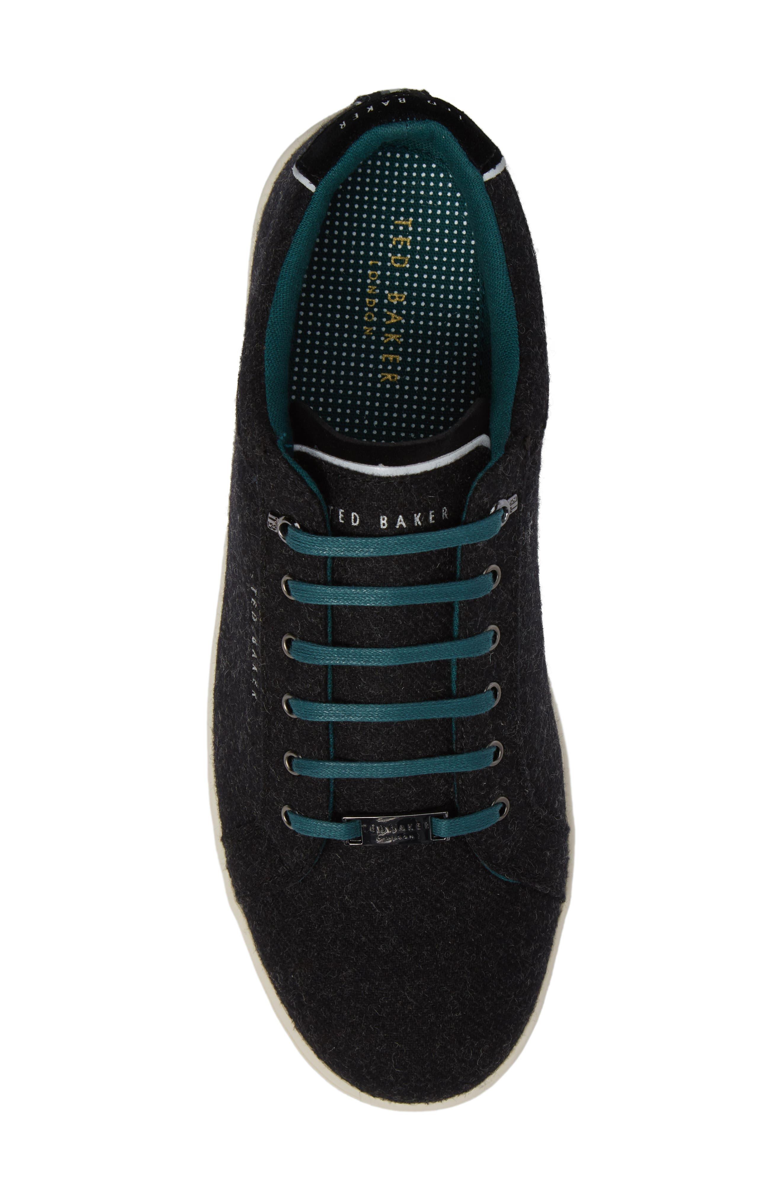 Minem 3 Sneaker,                             Alternate thumbnail 5, color,                             Black Wool