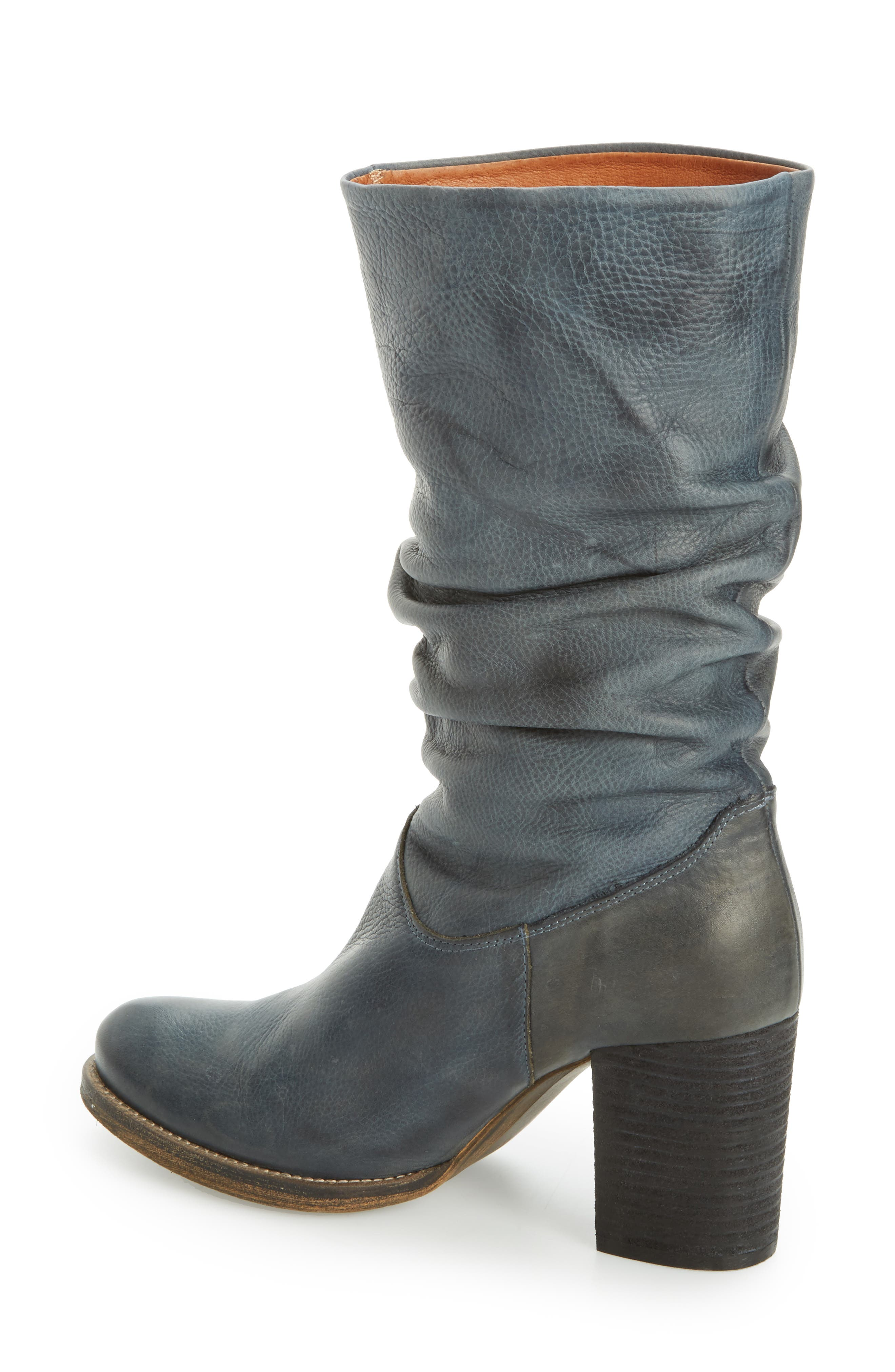 Tell It Block Heel Boot,                             Alternate thumbnail 2, color,                             Blue Leather