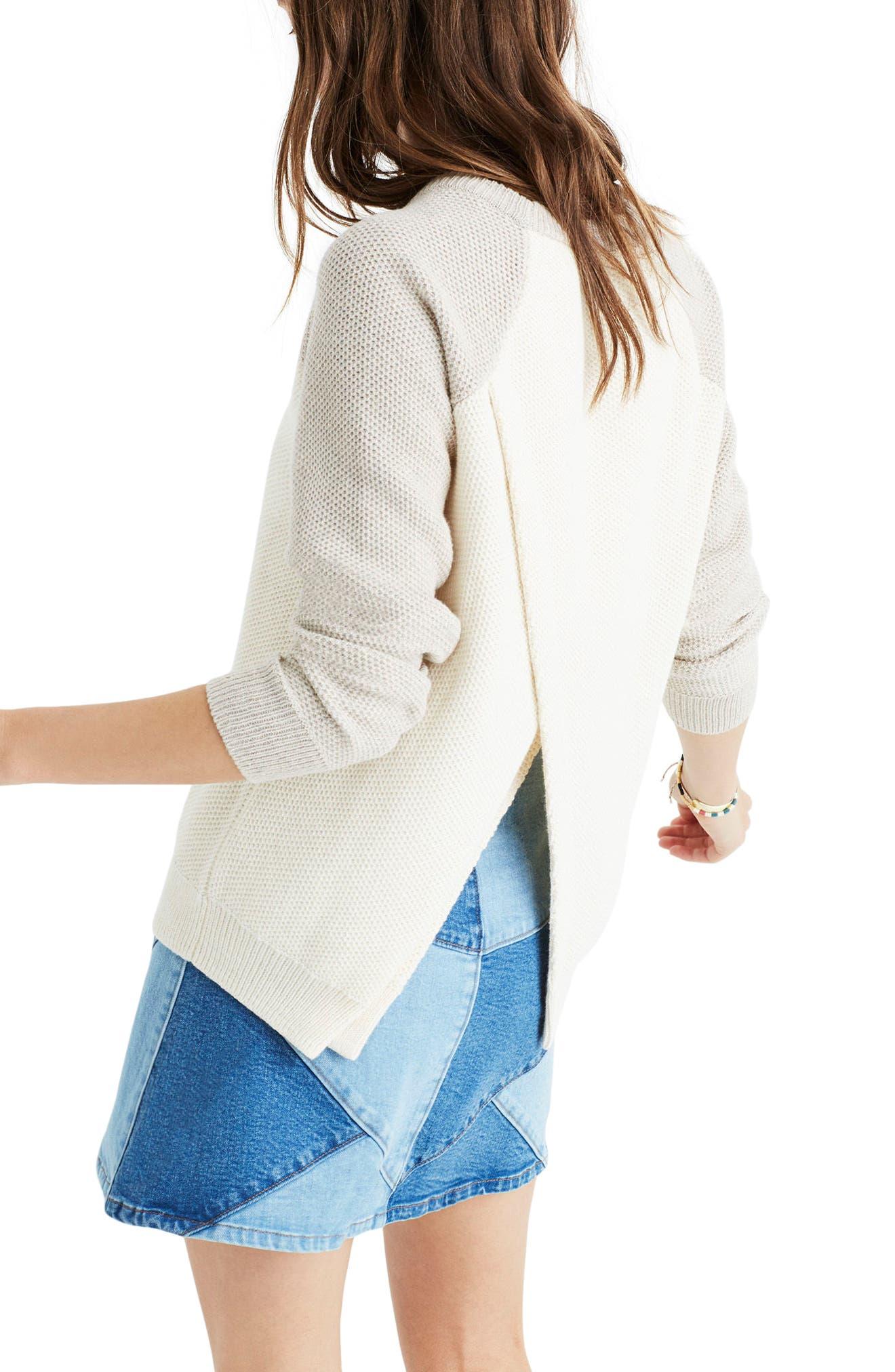 Alternate Image 2  - Madewell Crossback Sweater