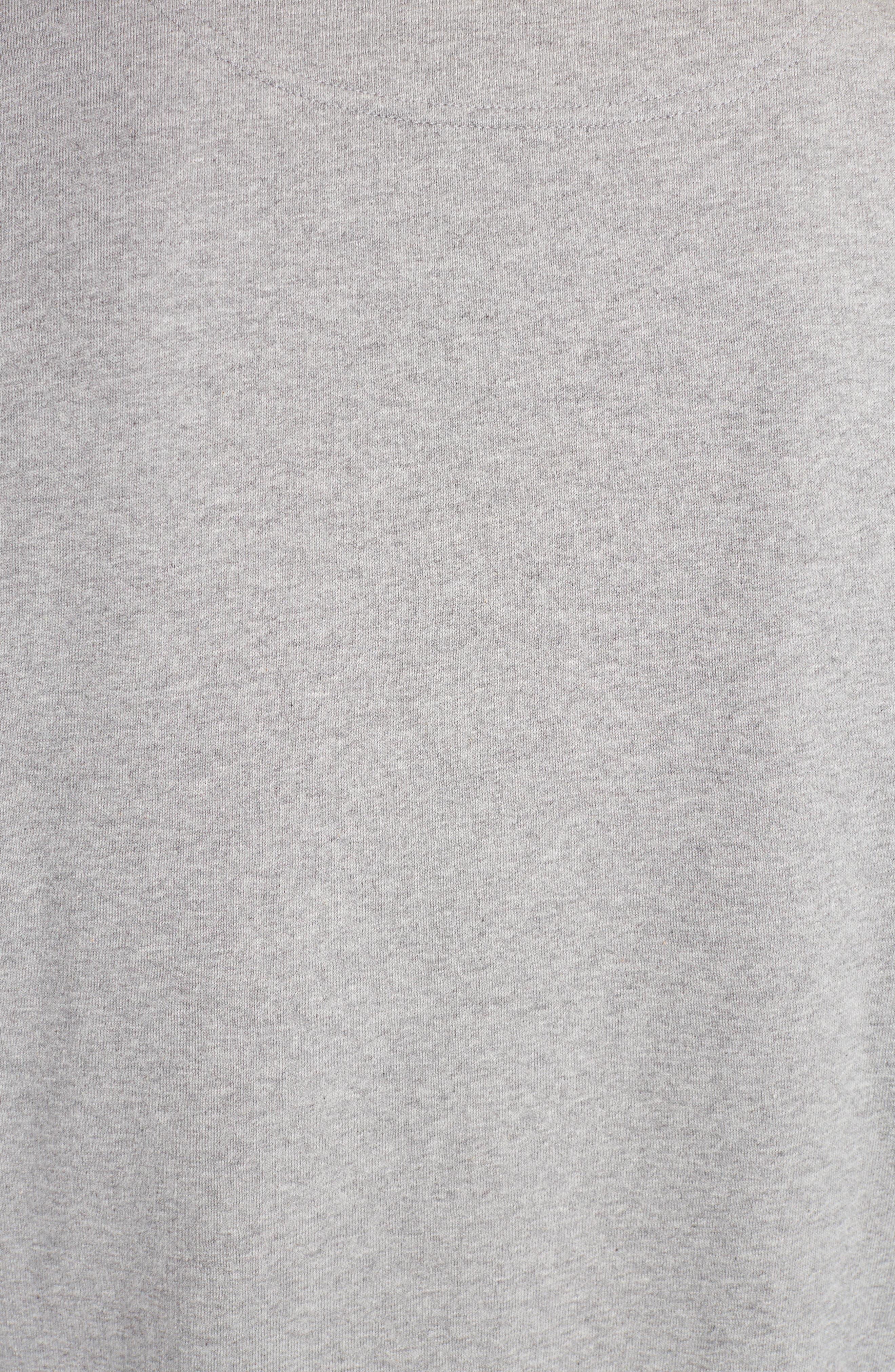 Rainbow Tiger Crewneck Sweatshirt,                             Alternate thumbnail 5, color,                             Dove Grey