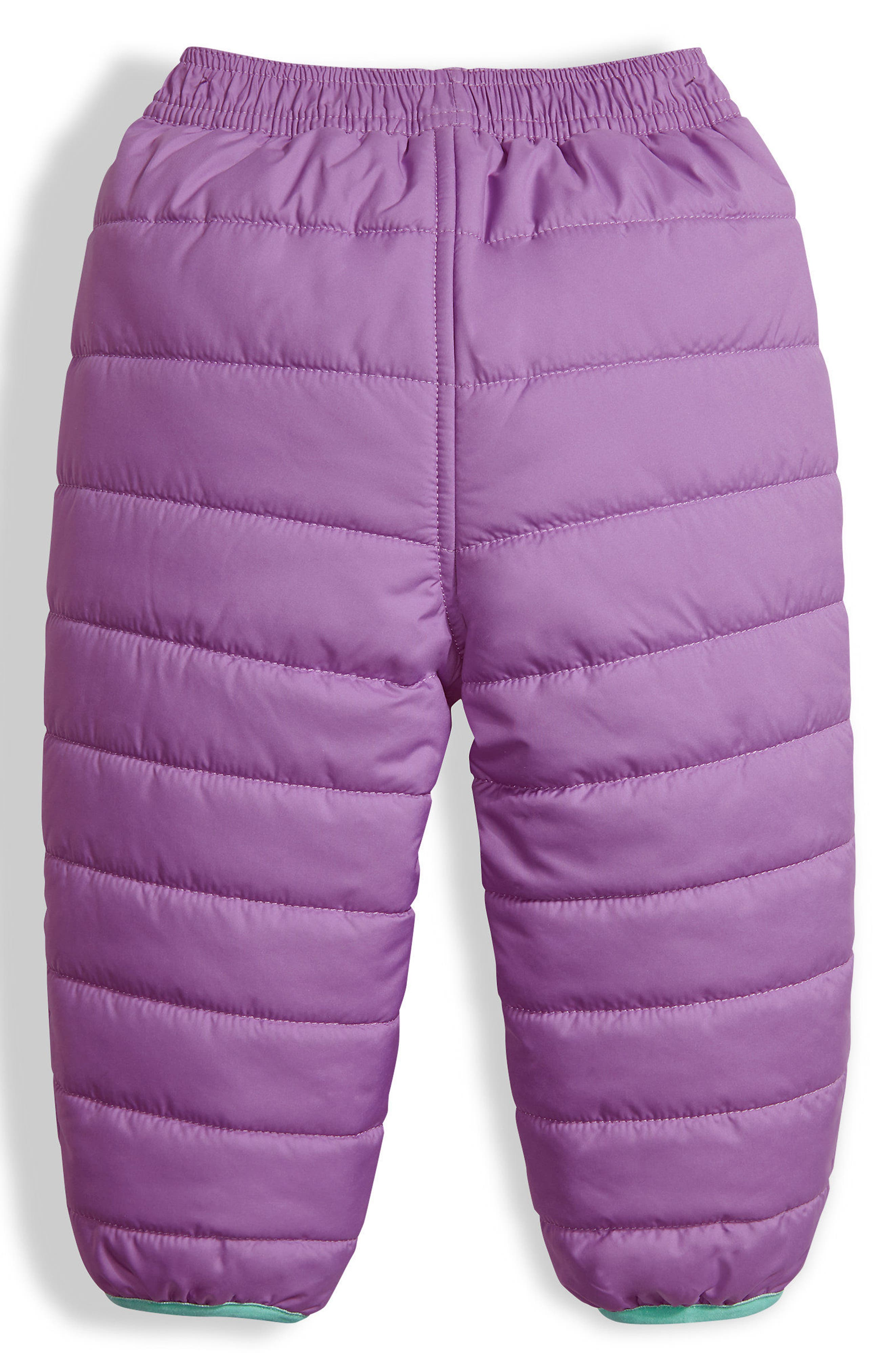Perrito Reversible Water Repellent Insulated Snow Pants,                             Alternate thumbnail 3, color,                             Bellflower Purple
