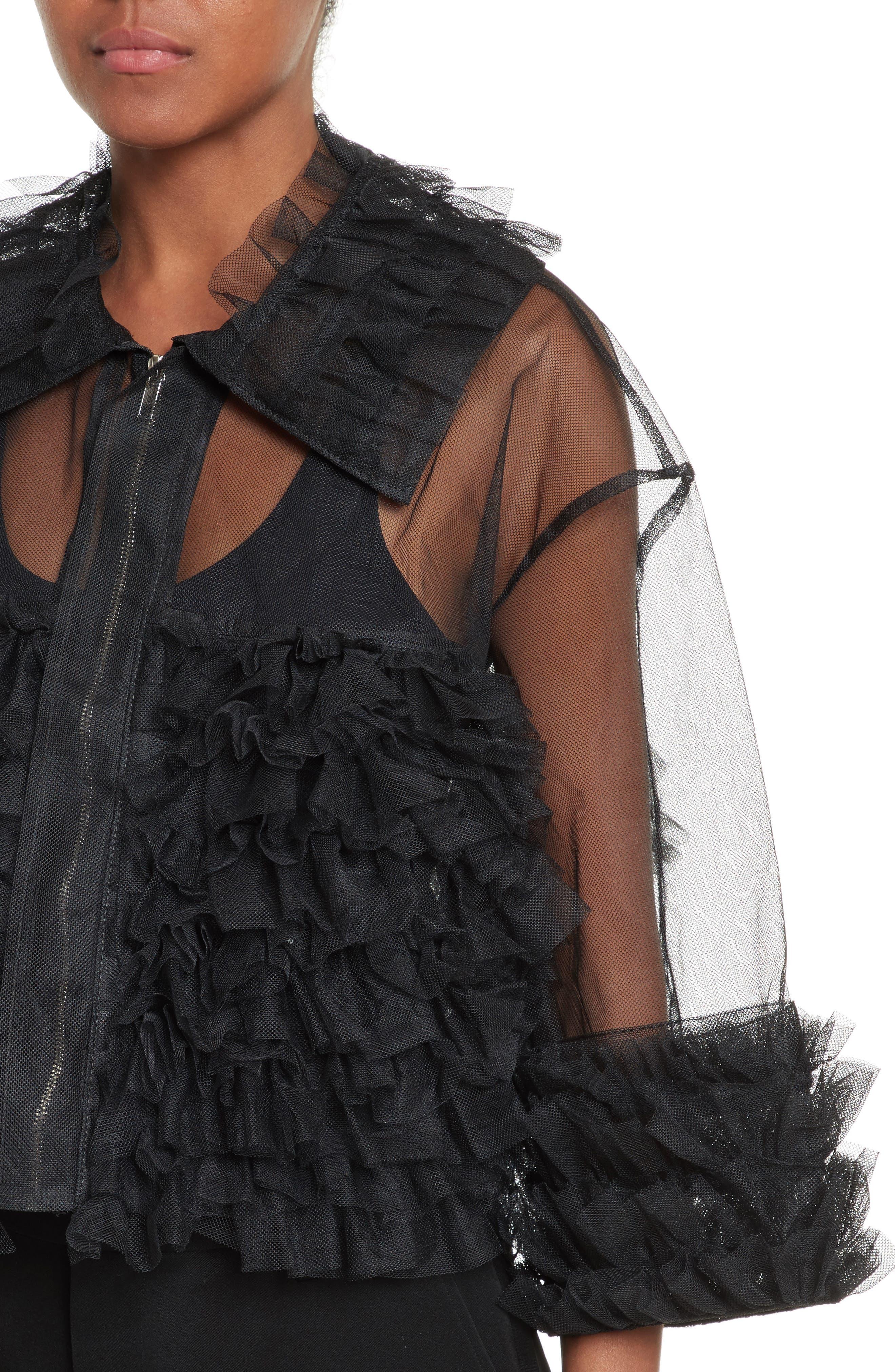 Alternate Image 4  - noir kei ninomiya Frilled Tulle Blouse